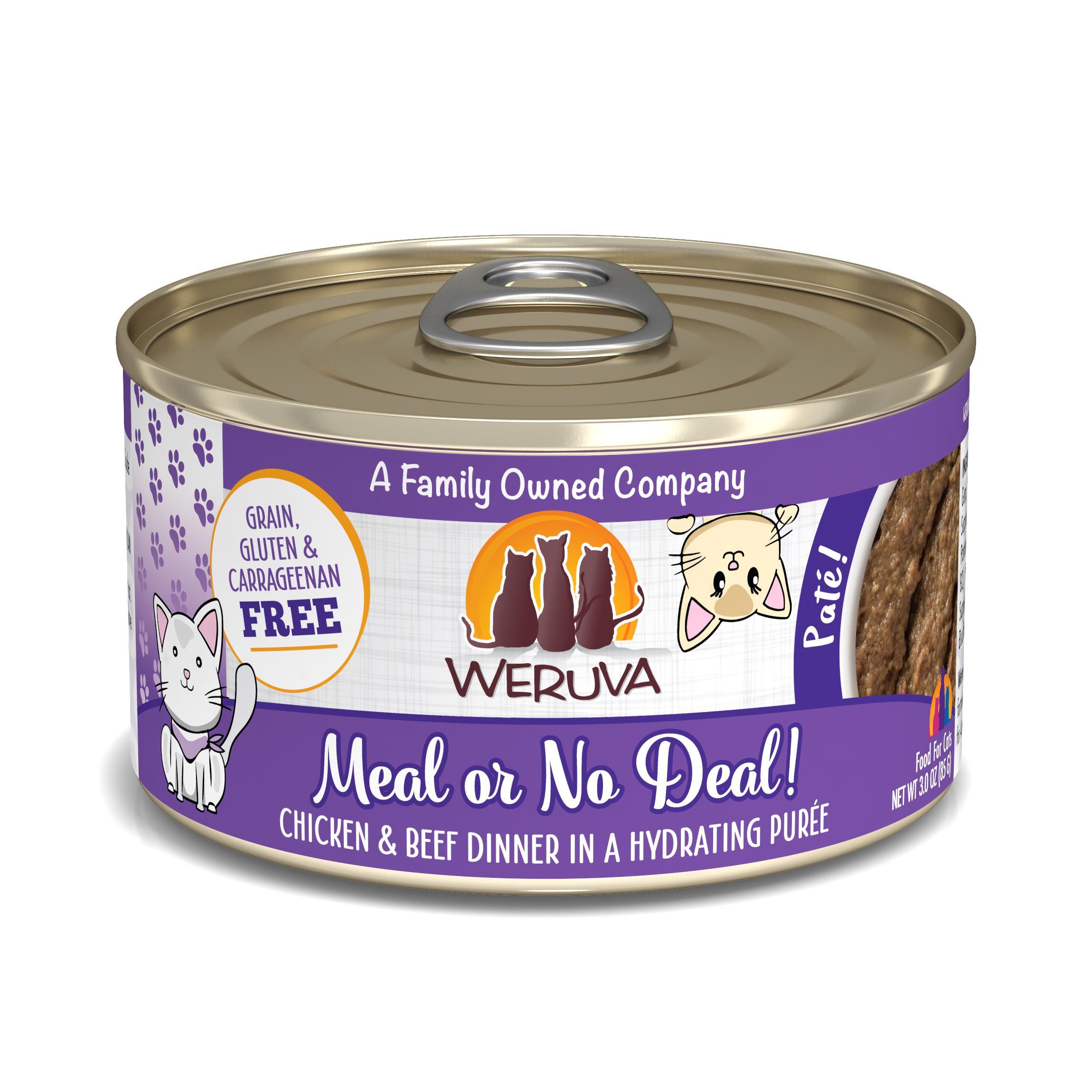 Weruva Cat Pate Meal or No Deal! Chicken & Beef Dinner in Puree Wet Cat Food Image
