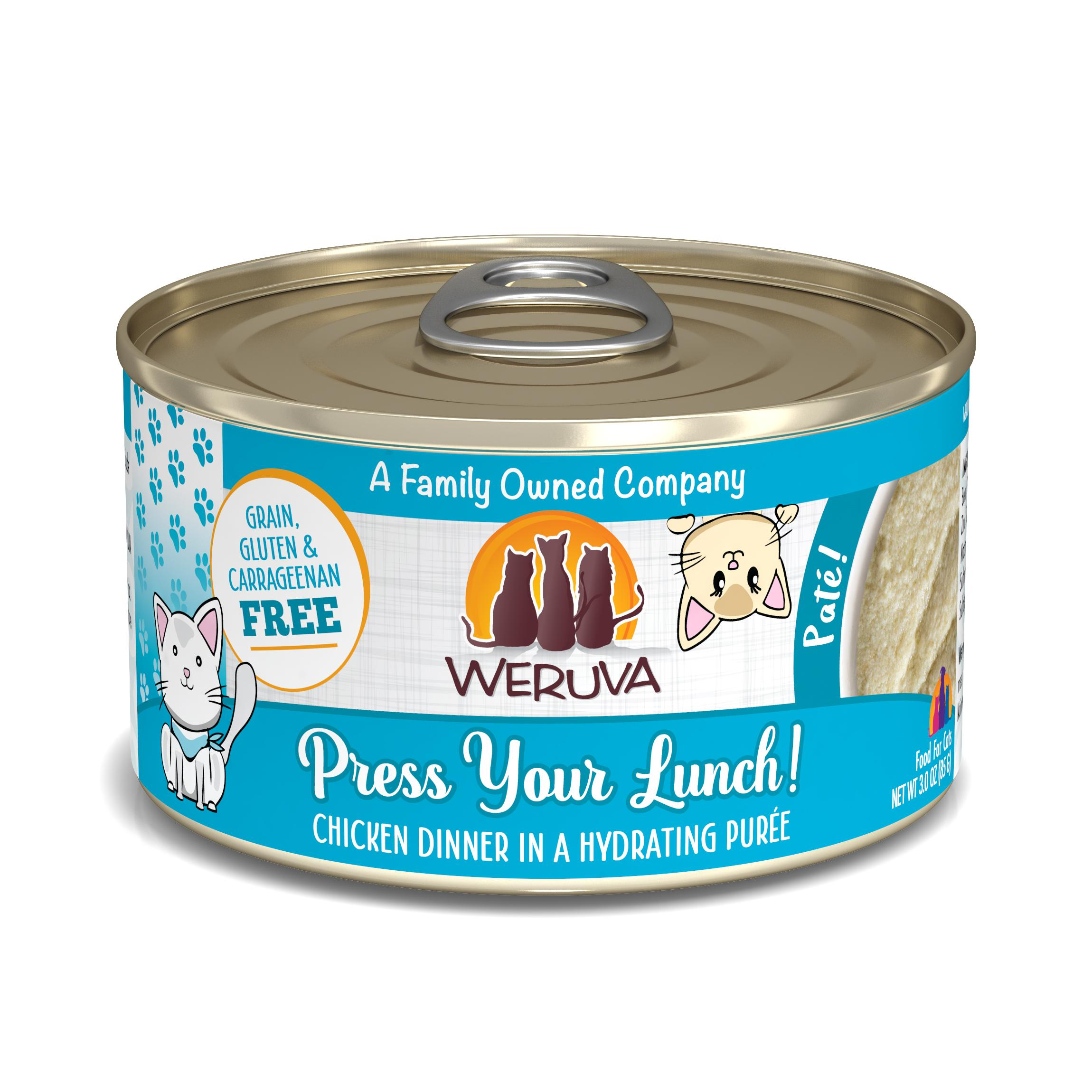 Weruva Cat Pate Press Your Lunch! Chicken Dinner in Puree Wet Cat Food Image