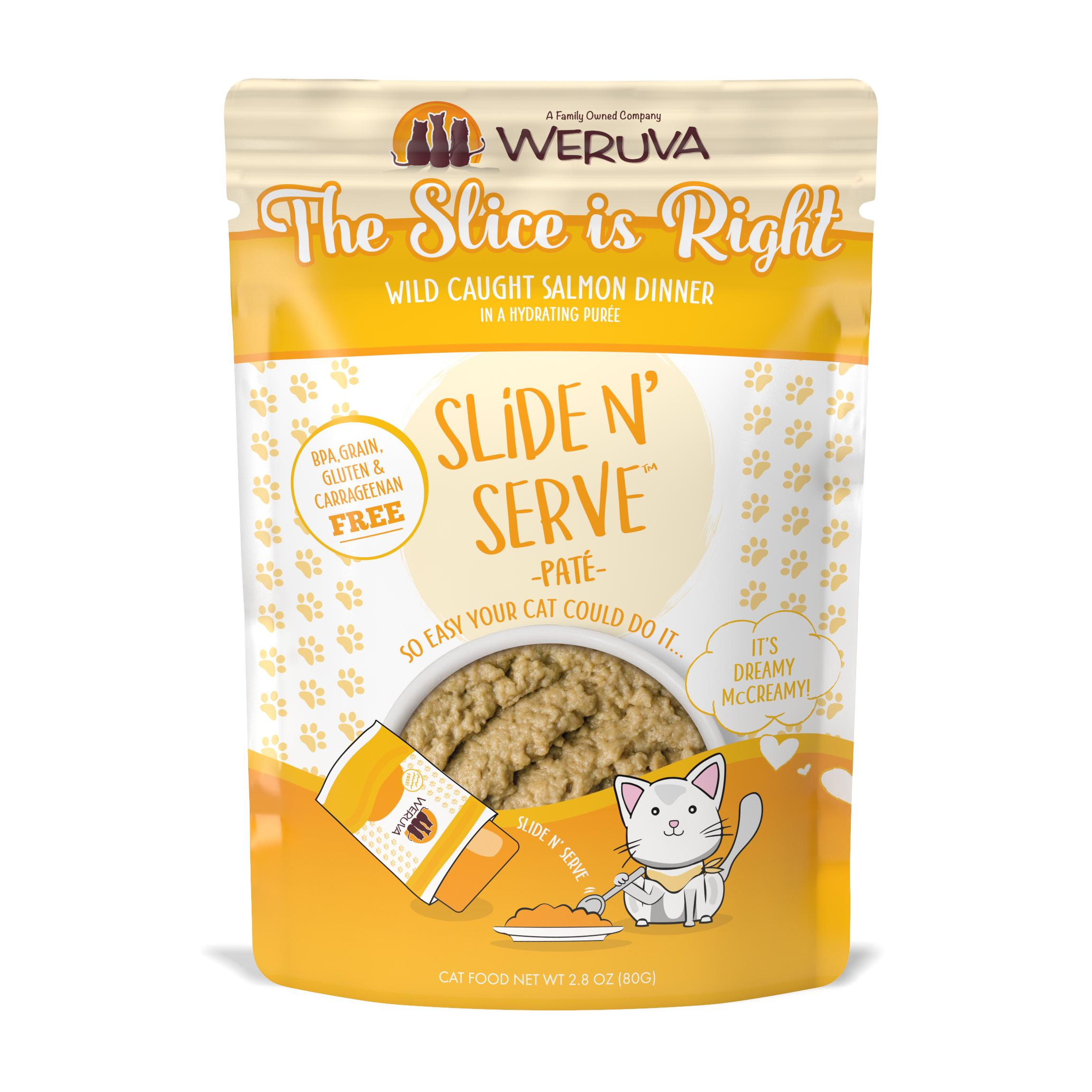 Weruva Cat Slide N' Serve Pate The Slice Is Right Salmon Wet CatFood, 2.8-oz