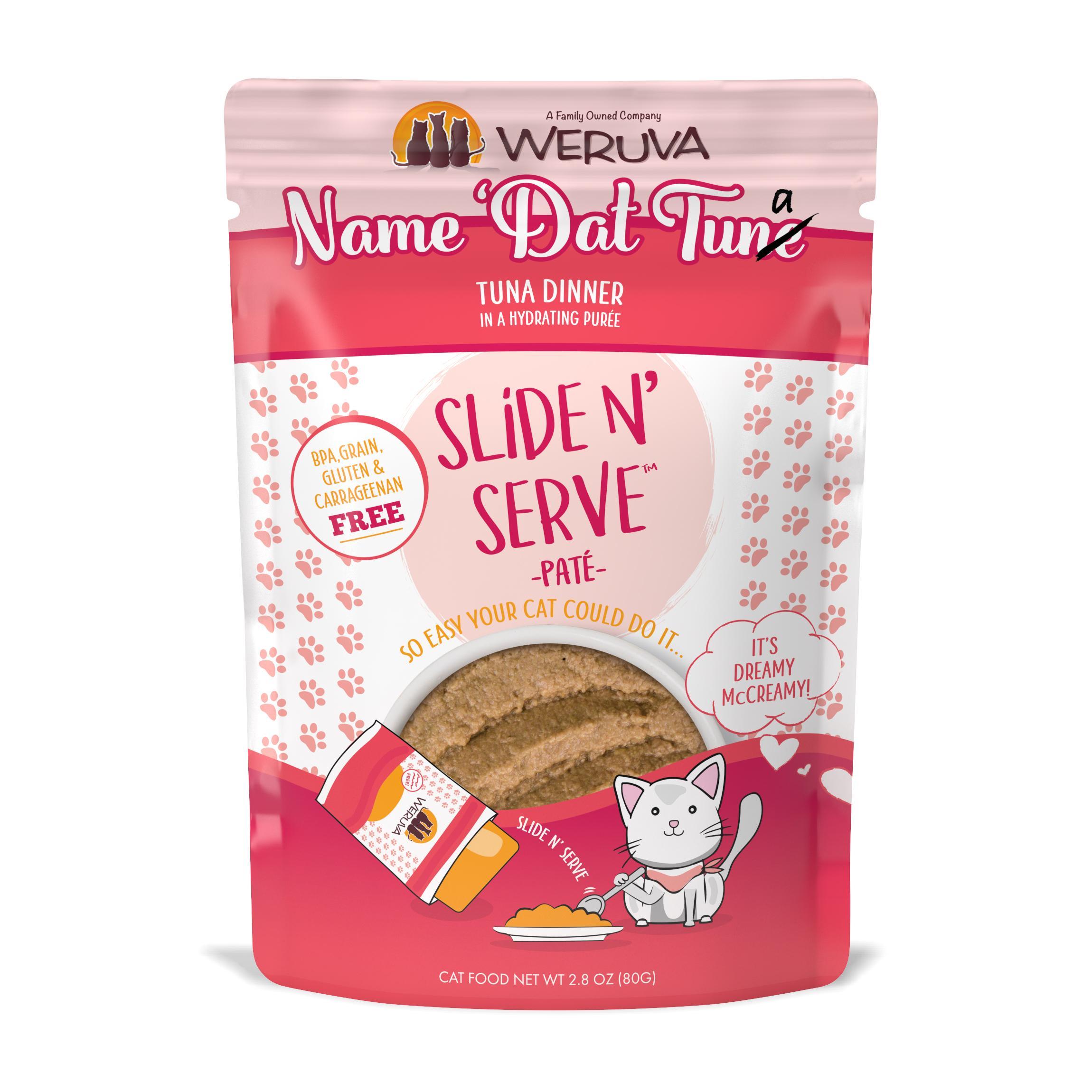Weruva Cat Slide 'n Serve Name Dat Tuna Dinner Pouch, 2.8-oz