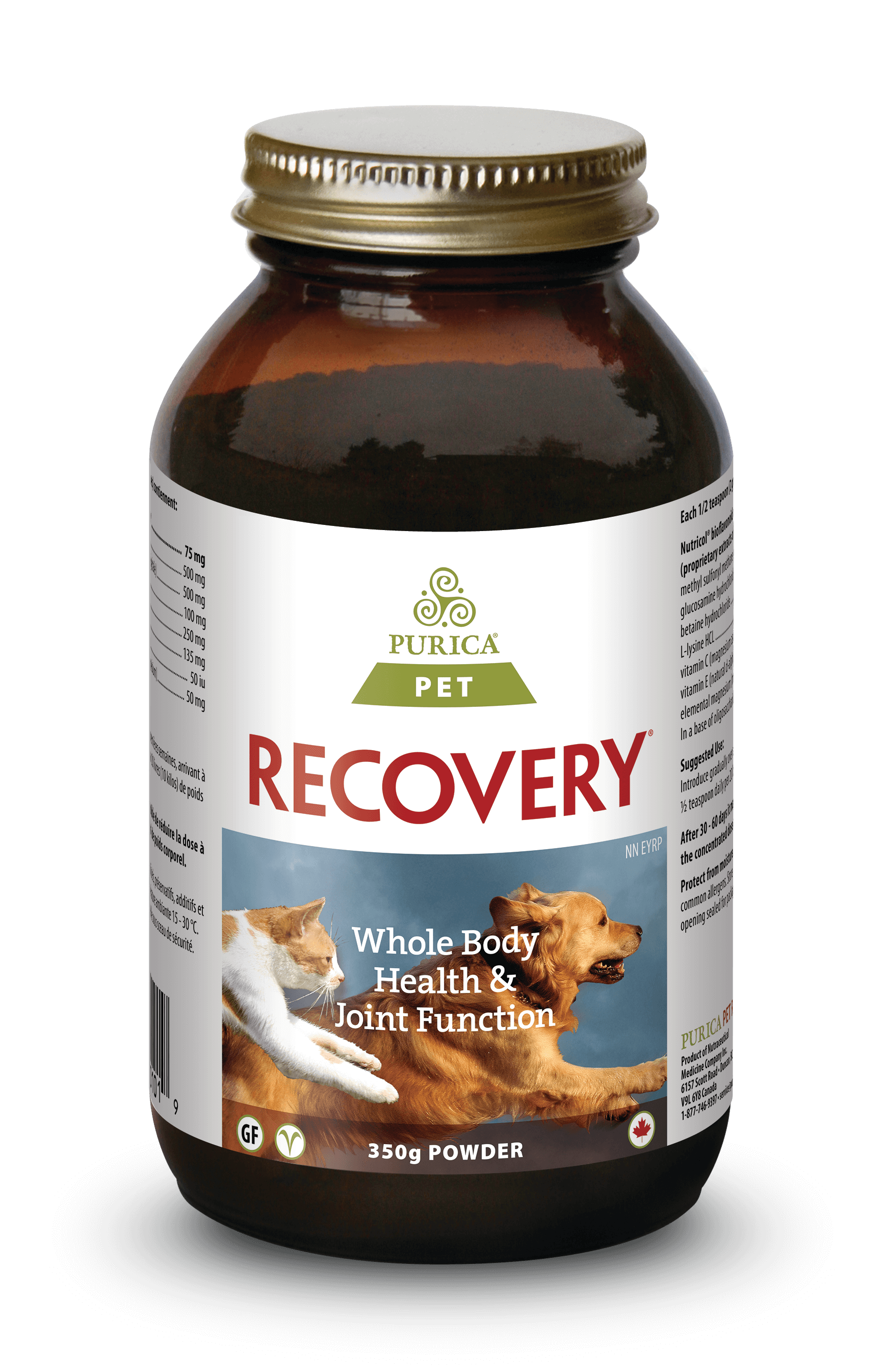 Purica Recovery Powder Dog & Cat Supplement, 350-gram (Size: 350-gram) Image