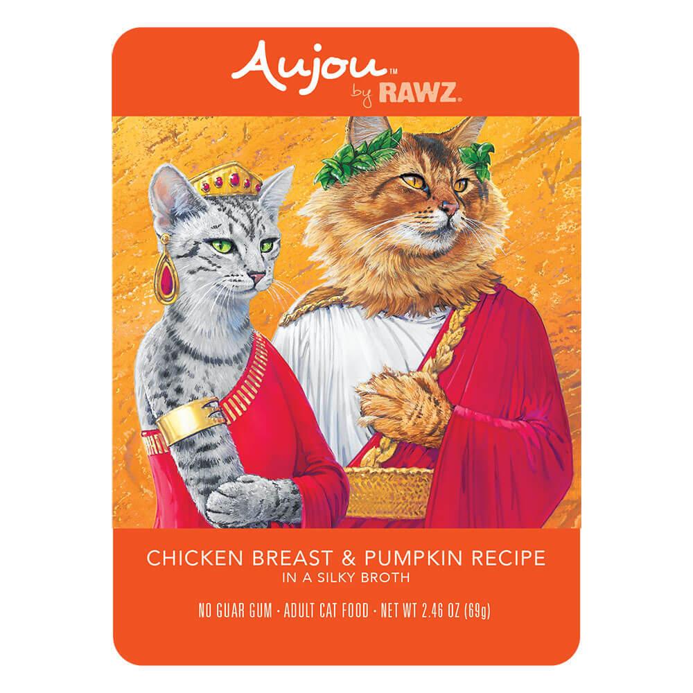 Aujou Cat Chicken Breast & Pumpkin Wet Cat Food, 2.46-oz pouch