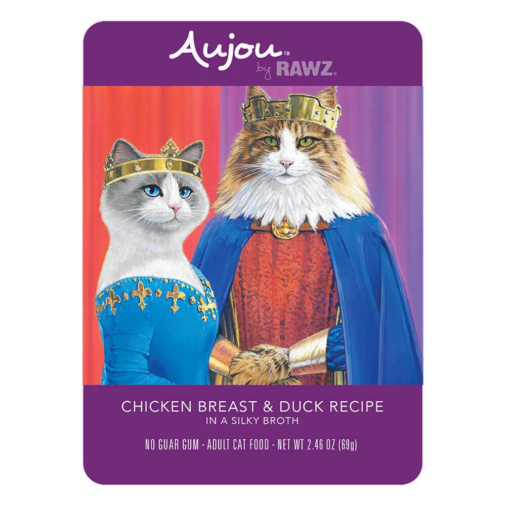 Aujou Cat Chicken Breast & Duck Wet Cat Food, 2.46-oz pouch