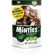 VetIQ Minties Salmon Dental Cat Treats, 2.5-oz (Size: 2.5-oz) Image