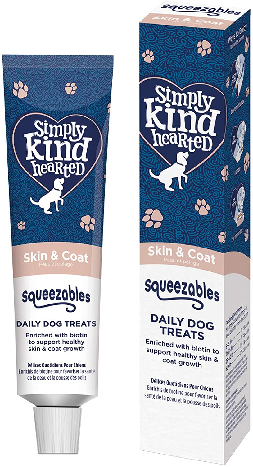 Simply Kind Hearted Dog Squeezables, Skin & Coat, 1.76-oz
