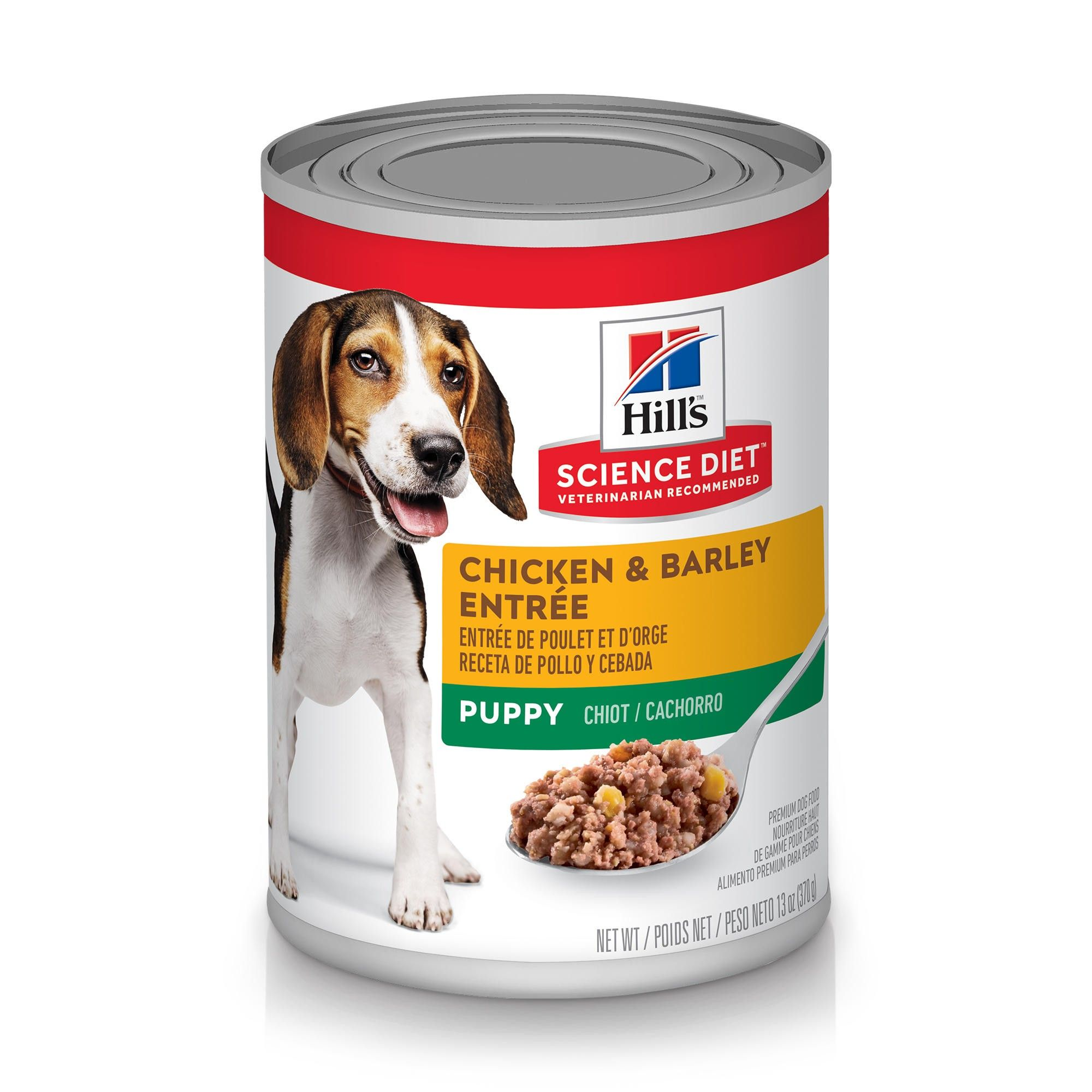 Hill's Science Diet Puppy Chicken & Barley Entree Canned Dog Food, 13-oz