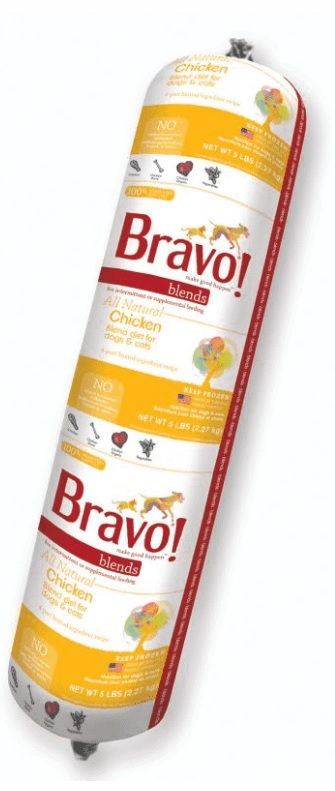 Bravo Blend Chicken Chub Roll Raw Frozen Dog & Cat Food, 5lbs