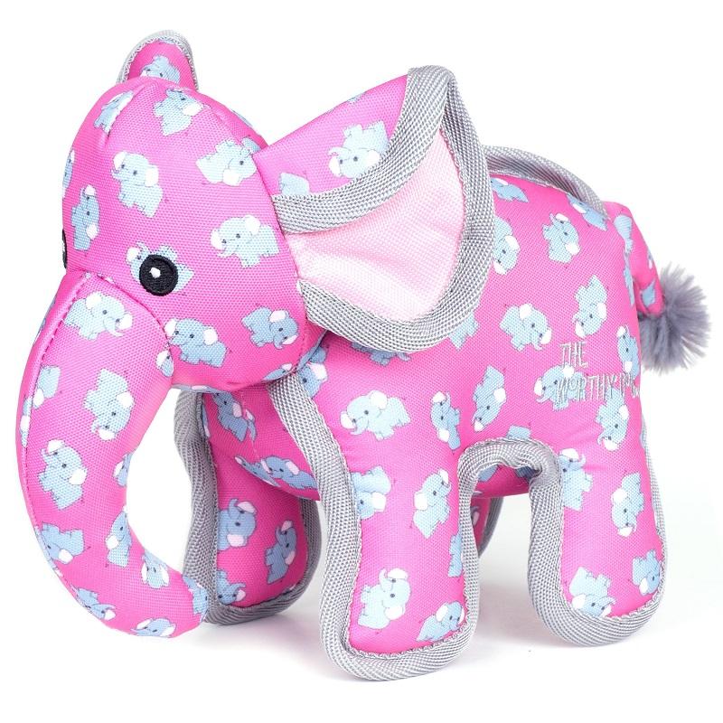The Worthy Dog Pinky Elephant Plush Dog Toy, Small