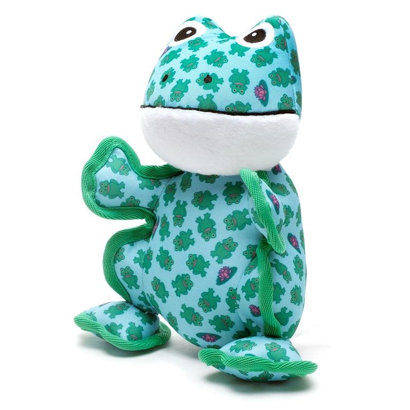 The Worthy Dog Frog Plush Dog Toy, Small