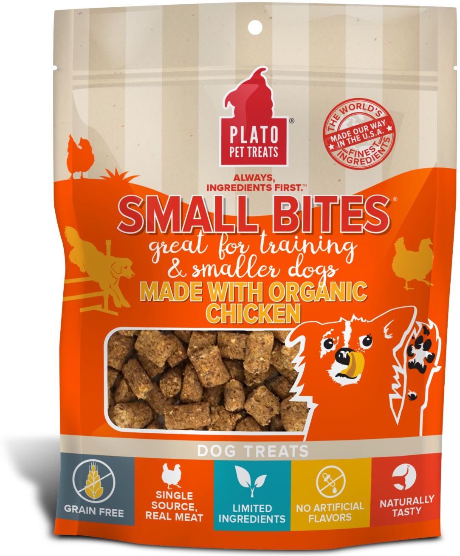 Plato Small Bites Organic Chicken Dog Treats Image