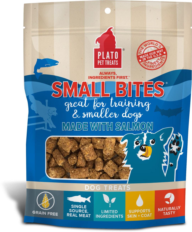 Plato Small Bites Salmon Dog Treats Image