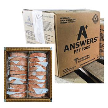 Answers Detailed 8-oz Patties Chicken Formula Raw Frozen Dog Food, 20-lb