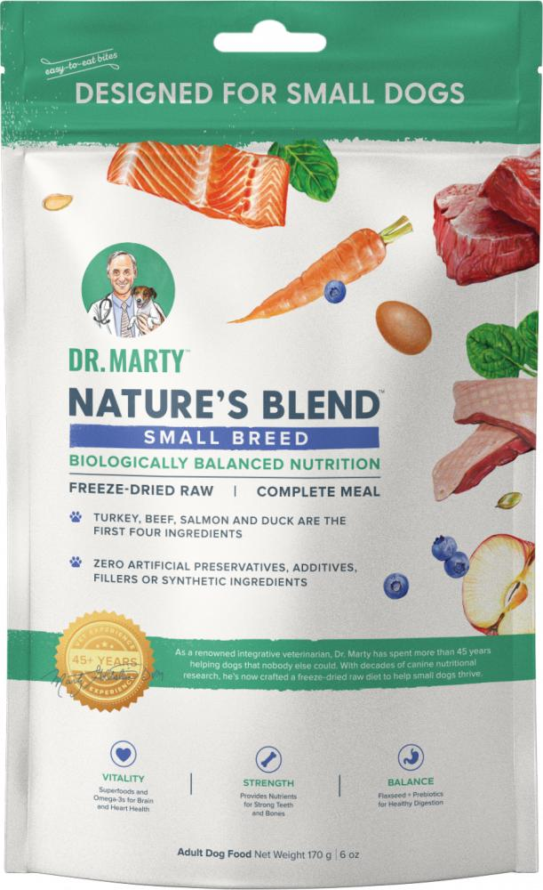 Dr. Marty Nature's Blend Small Breed Freeze-Dried Dog Food, 6-oz