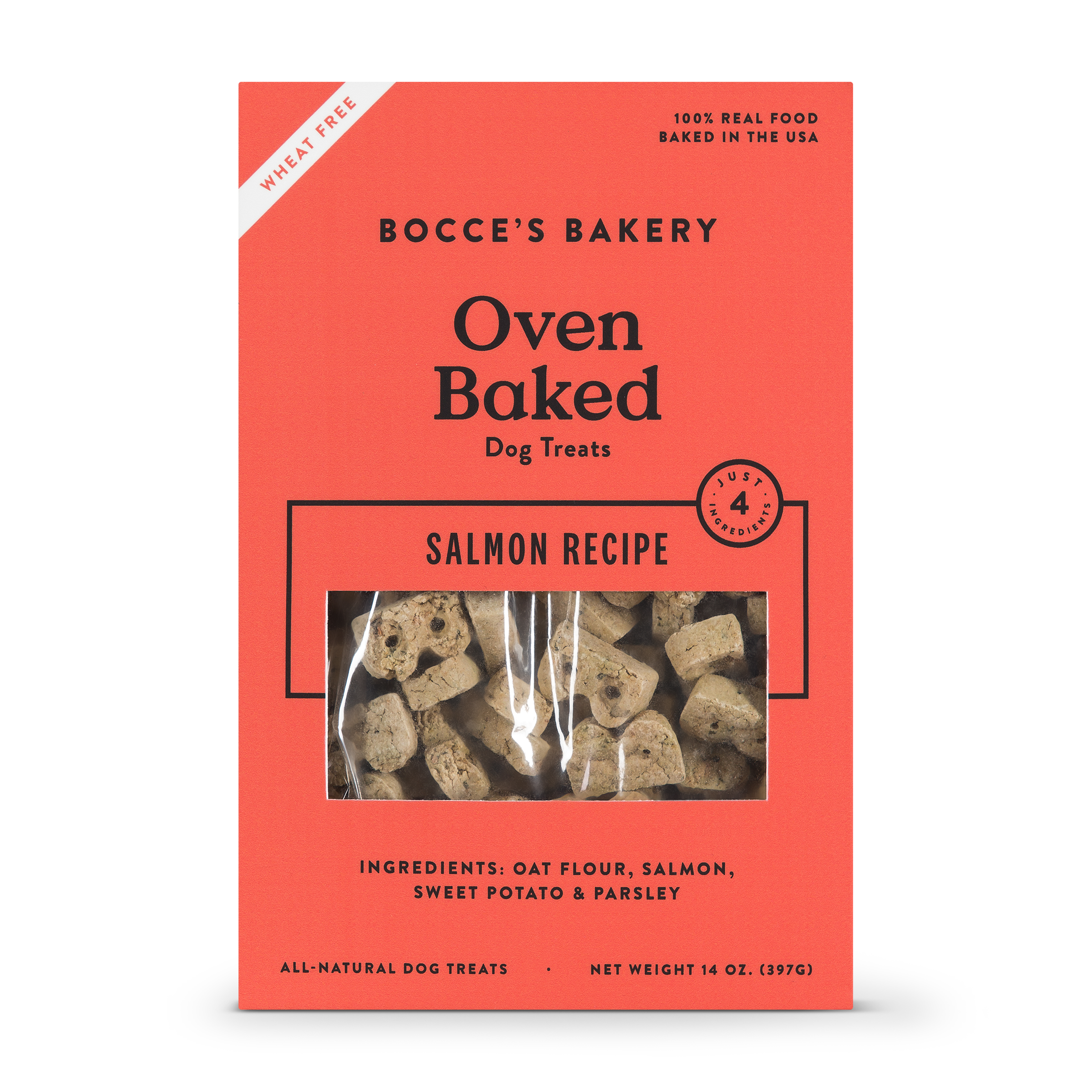 Bocce's Bakery Better Basics Salmon Dog Biscuits, 14-oz