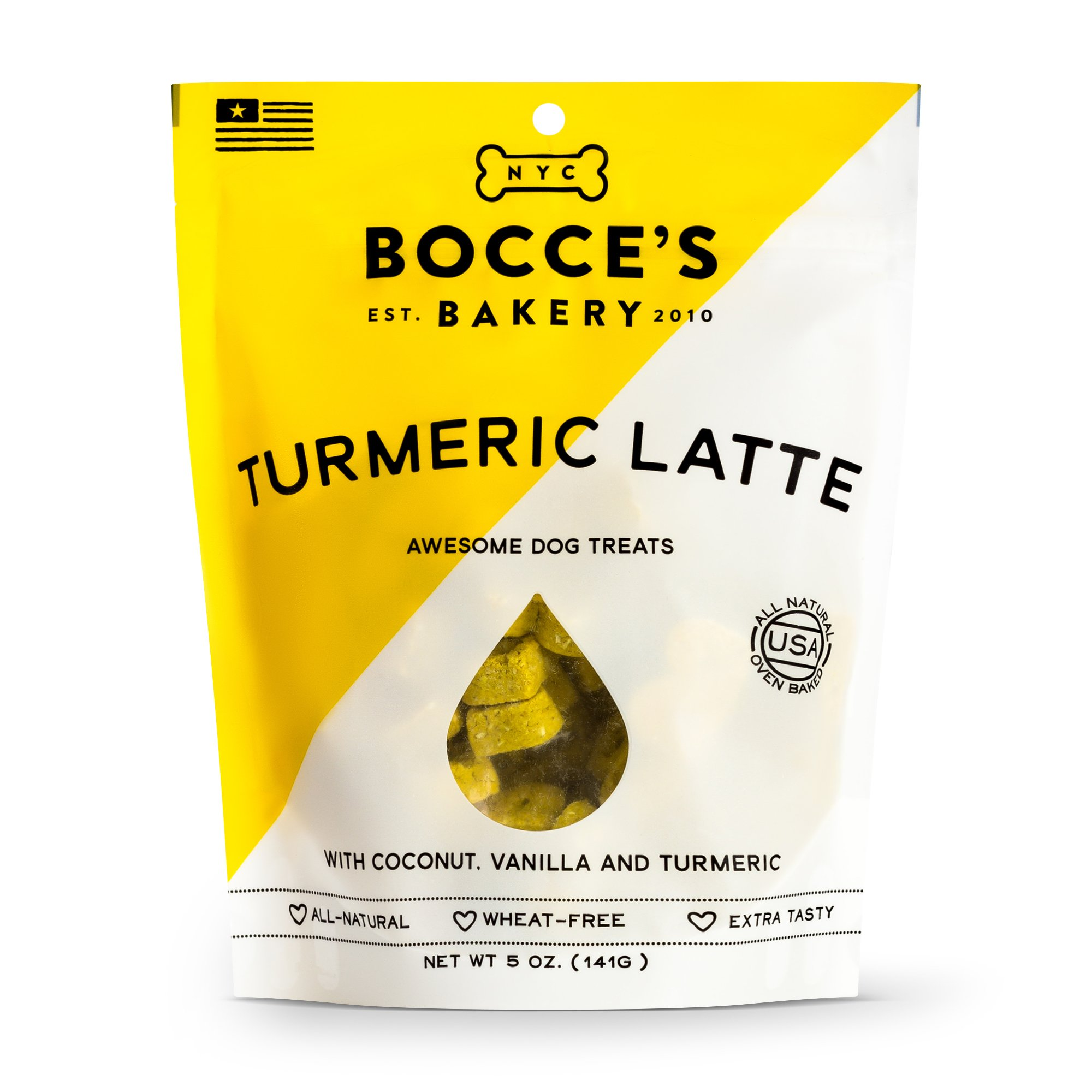 Bocce's Bakery Seasonal Tumeric Latte Biscuits 5-oz