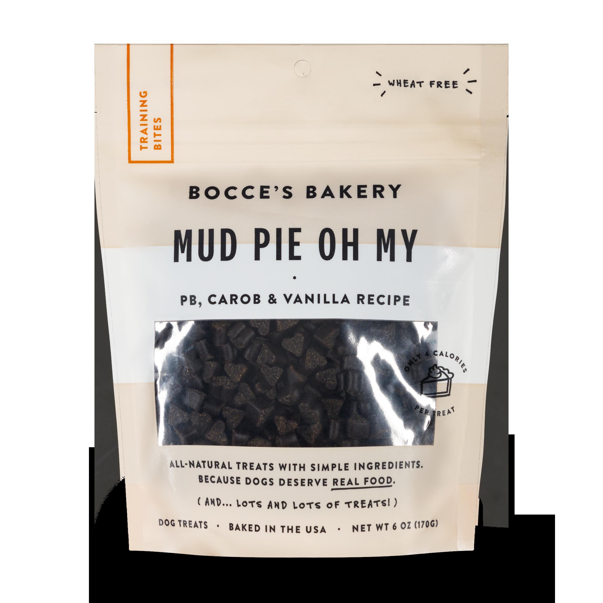 Bocce's Bakery Everyday Mud Pie Oh My Peanut Butter, Carob & Vanilla Recipe Training Bites Dog Treats, 6-oz