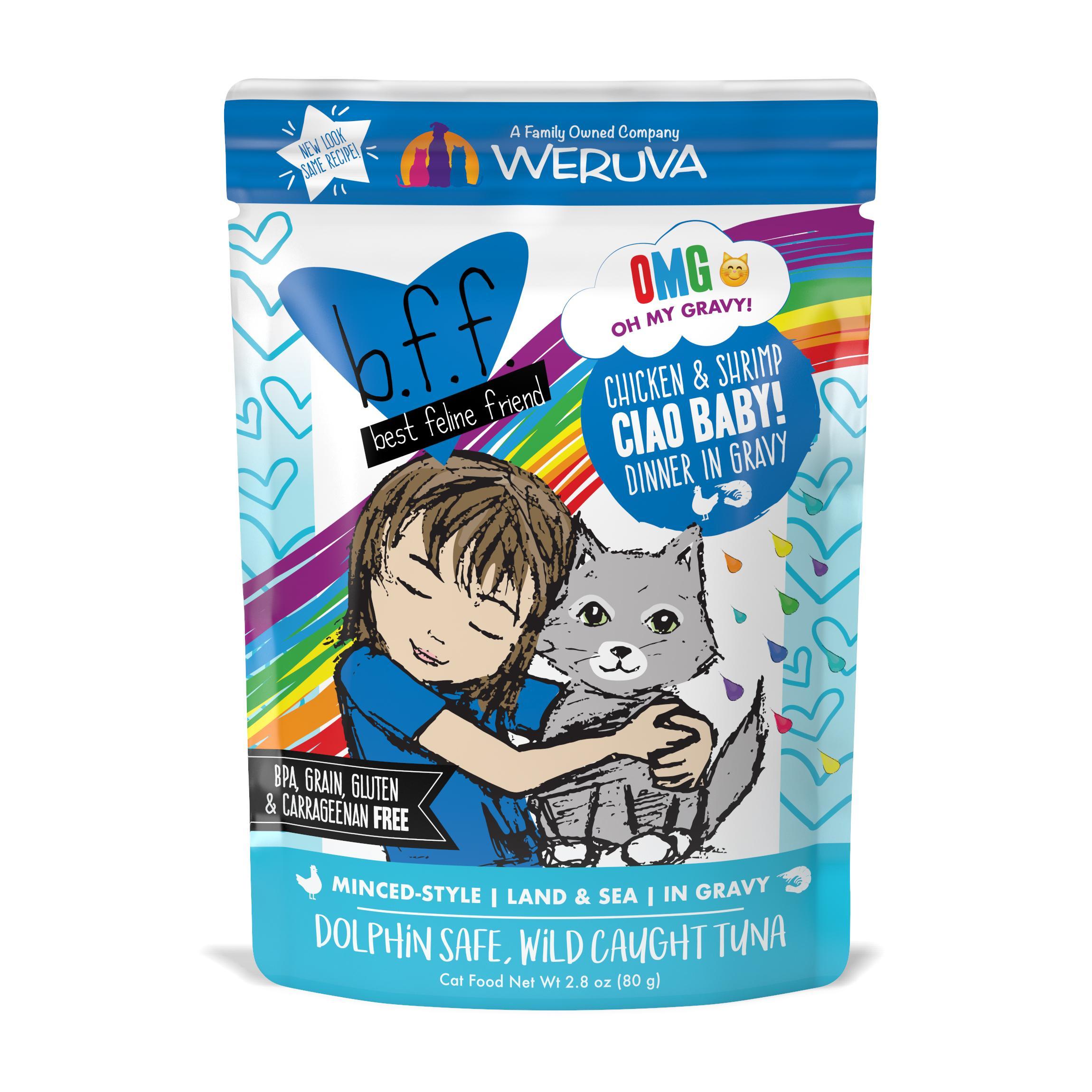 BFF Oh My Gravy! Ciao Baby! Chicken & Shrimp Dinner in Gravy Grain-Free Wet Cat Food Image