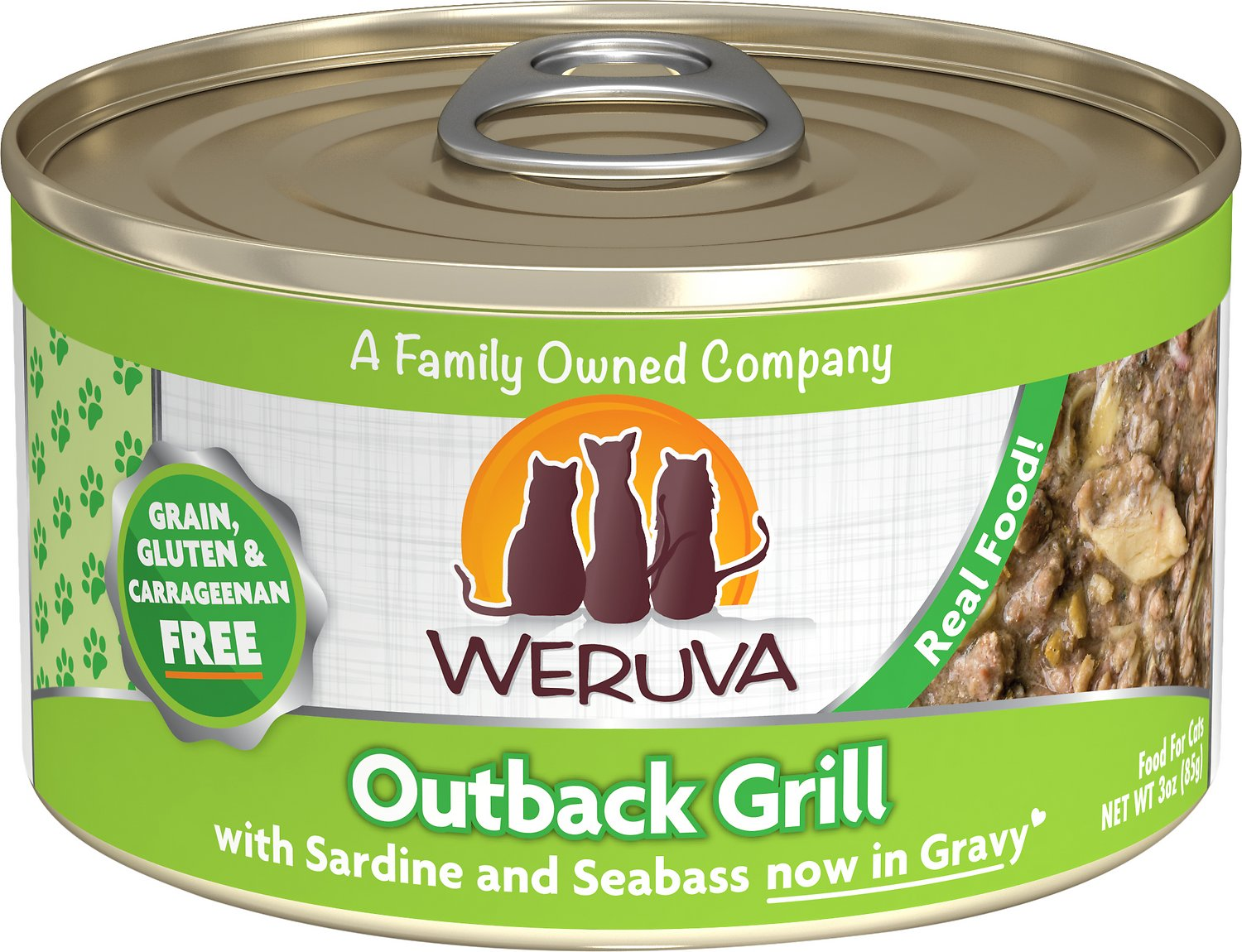 Weruva Cat Classic Outback Grill with Trevally & Barramundi Grain-Free Wet Cat Food, 3-oz