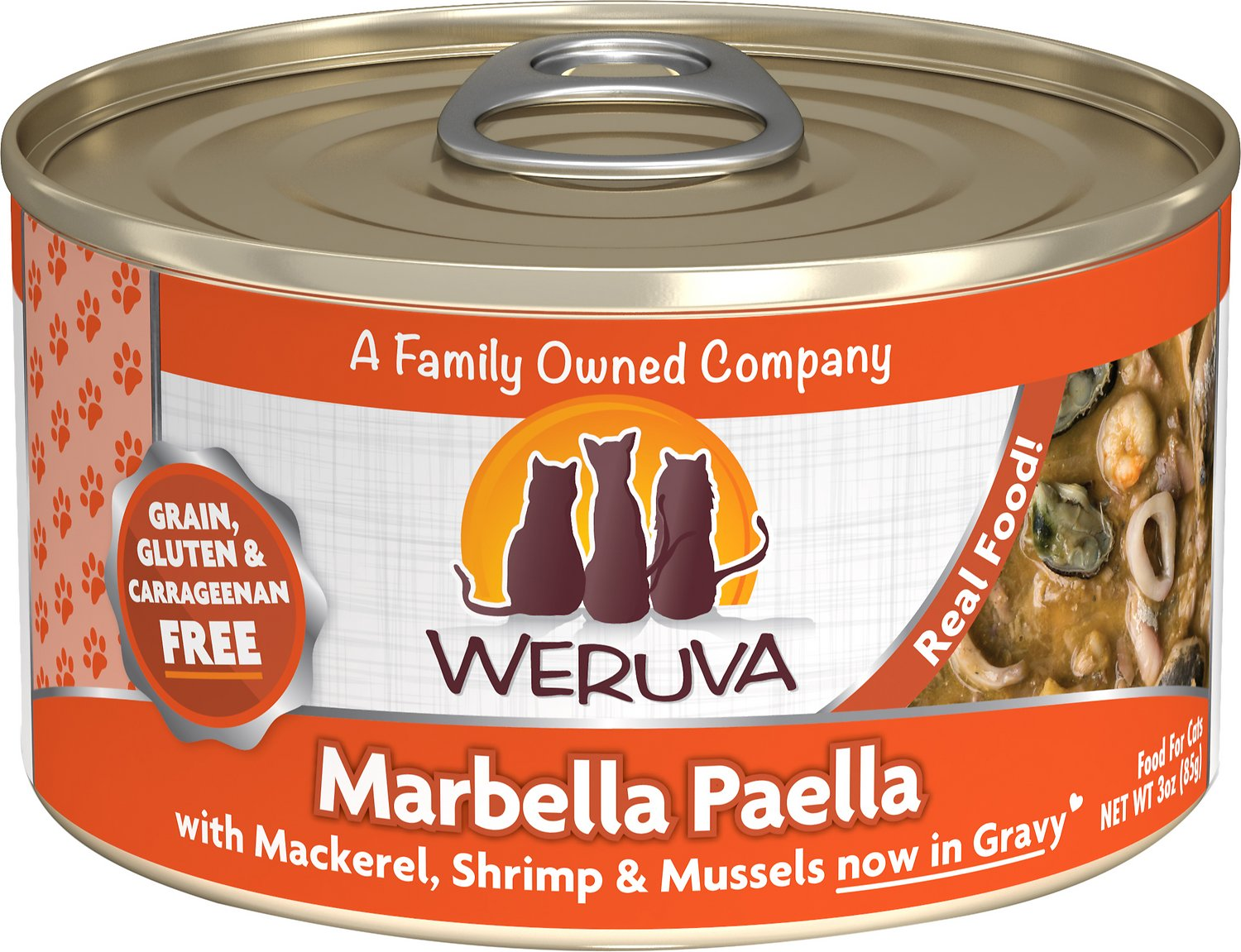 Weruva Cat Classic Marbella Paella with Mackerel, Shrimp & Mussels Grain-Free Wet Cat Food Image