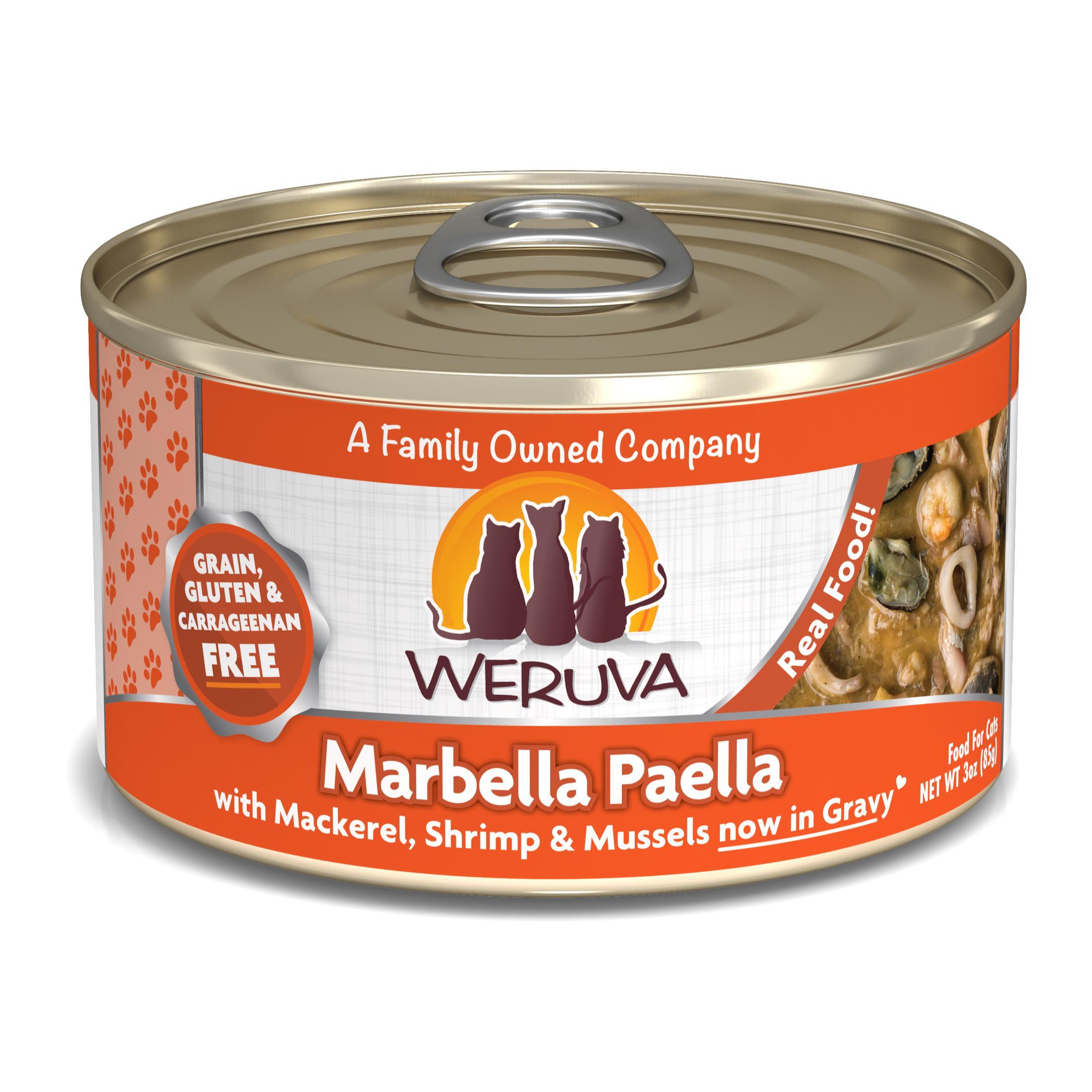 Weruva Cat Classic Marbella Paella with Mackerel, Shrimp & Mussels Grain-Free Wet Cat Food Image