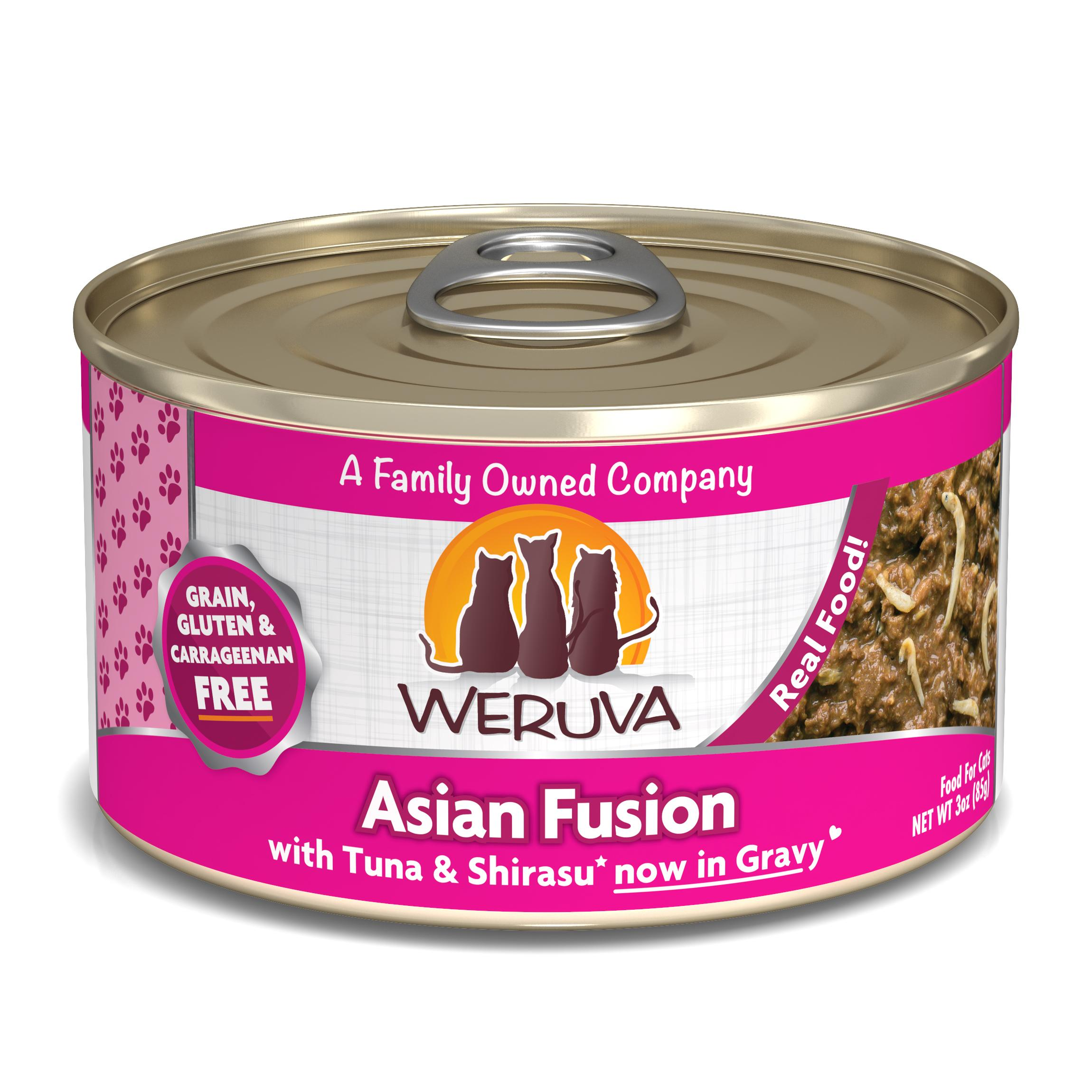 Weruva Cat Classic Asian Fusion with Tuna & Shirasu Grain-Free Wet Cat Food, 3-oz