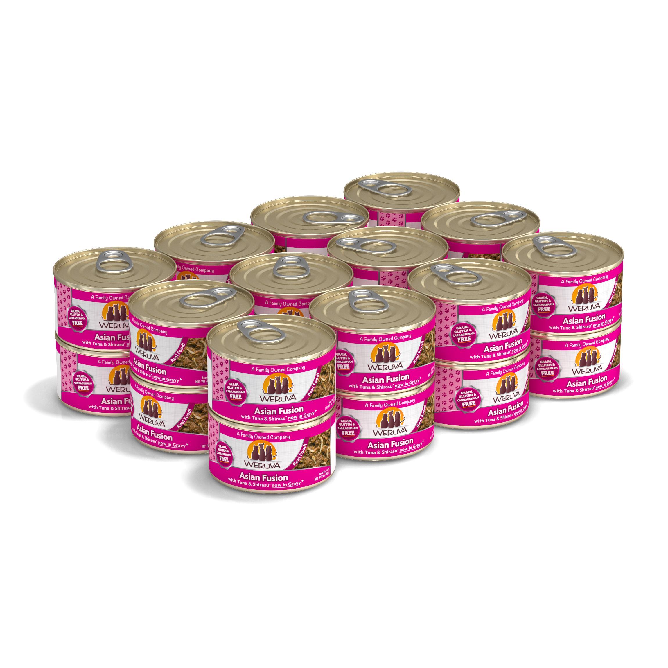 Weruva Cat Classic Asian Fusion with Tuna & Shirasu Grain-Free Wet Cat Food, 3-oz, case of 24