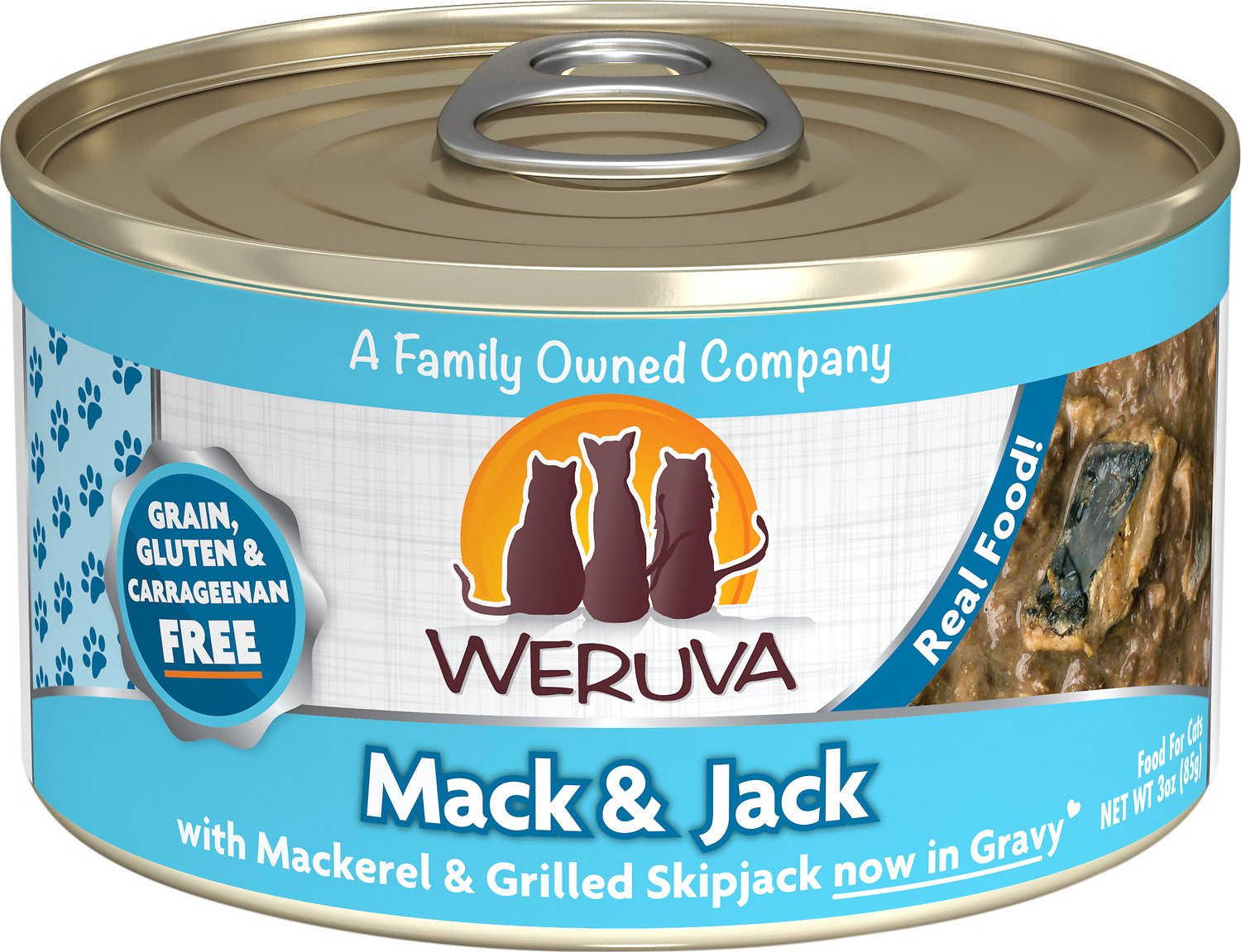 Weruva Cat Classic Mack and Jack with Mackerel & Grilled Skipjack Grain-Free Wet Cat Food Image
