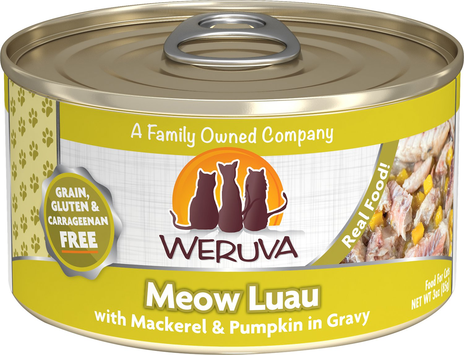 Weruva Cat Classic Meow Luau with Mackerel & Pumpkin Grain-Free Wet Cat Food Image