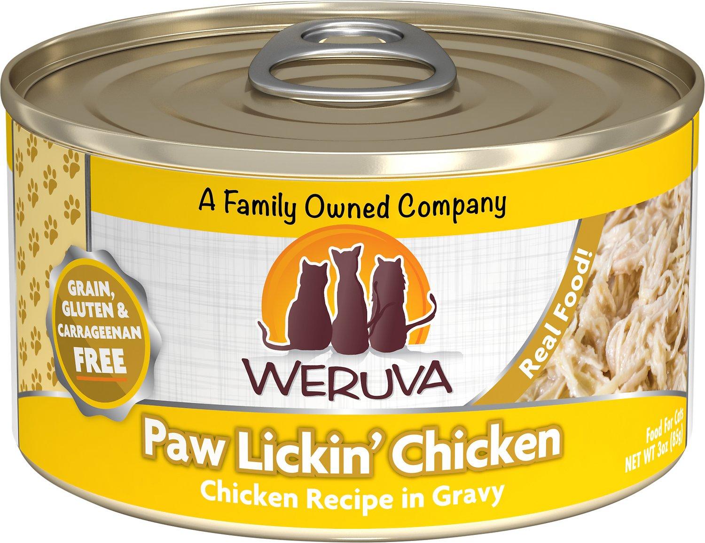 Weruva Cat Classic Paw Lickin' Chicken in Gravy Grain-Free Wet Cat Food, 3-oz