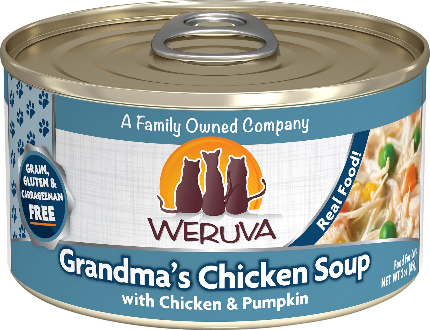 Weruva Cat Classic Grandma's Chicken Soup with Chicken & Pumpkin Grain-Free Wet Cat Food Image