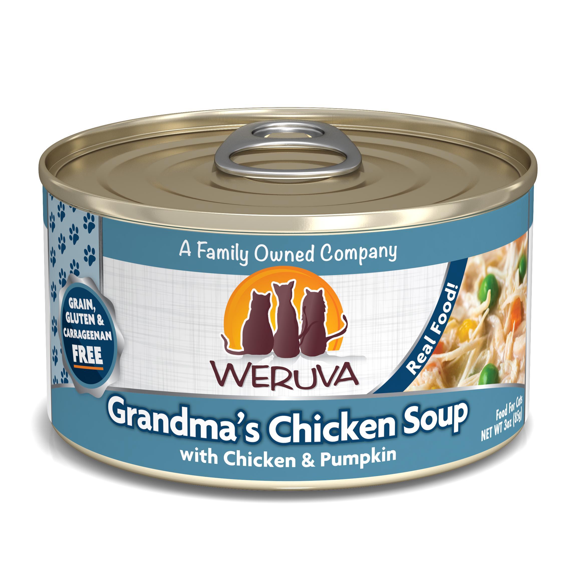 Weruva Cat Classic Grandma's Chicken Soup with Chicken & Pumpkin Grain-Free Wet Cat Food Image