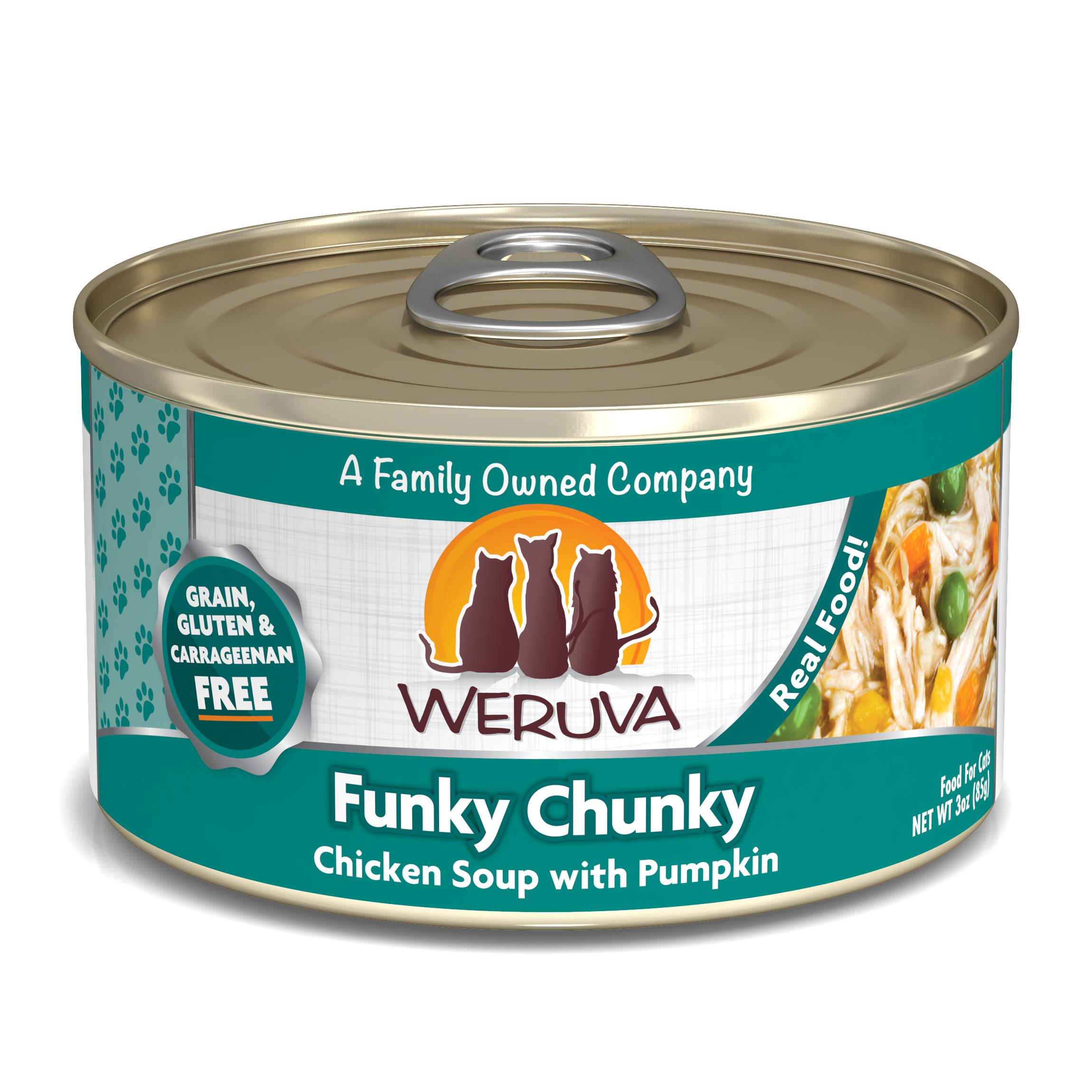 Weruva Cat Classic Funky Chunky Chicken Soup with Pumpkin Grain-Free Wet Cat Food Image