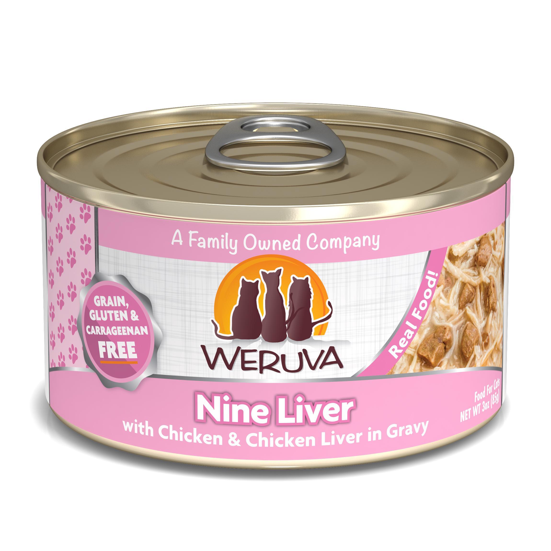 Weruva Cat Classic Nine Liver with Chicken & Chicken Liver in Gravy Grain-Free Wet Cat Food Image