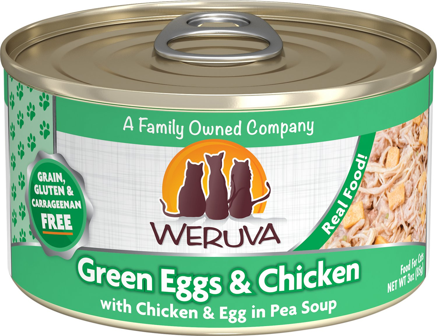 Weruva Cat Classic Green Eggs & Chicken with Chicken, Egg & Greens in Gravy Grain-Free Wet Cat Food Image