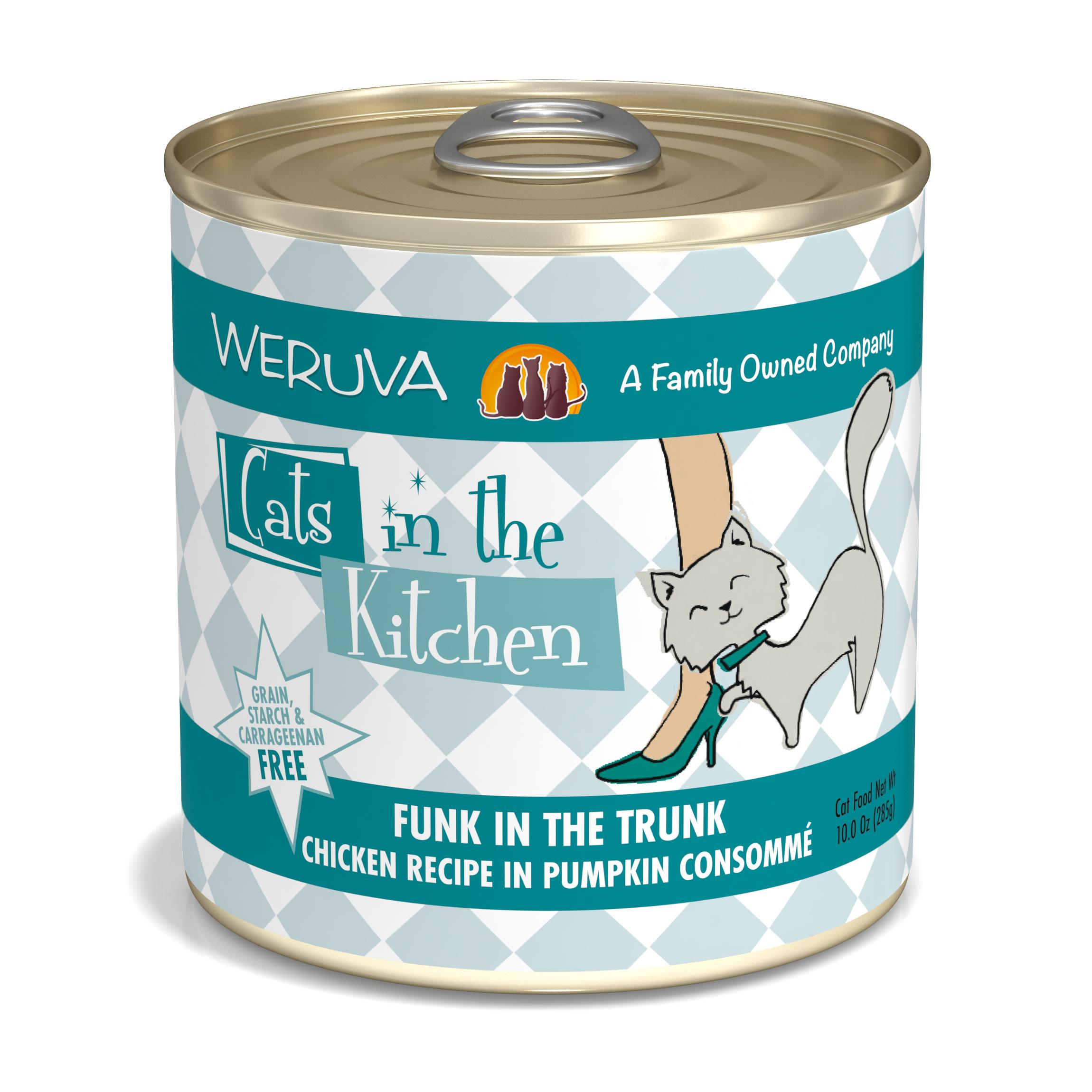 Weruva Cats in the Kitchen Funk In The Trunk Chicken in Pumpkin Consomme Grain-Free Wet Cat Food, 10-oz