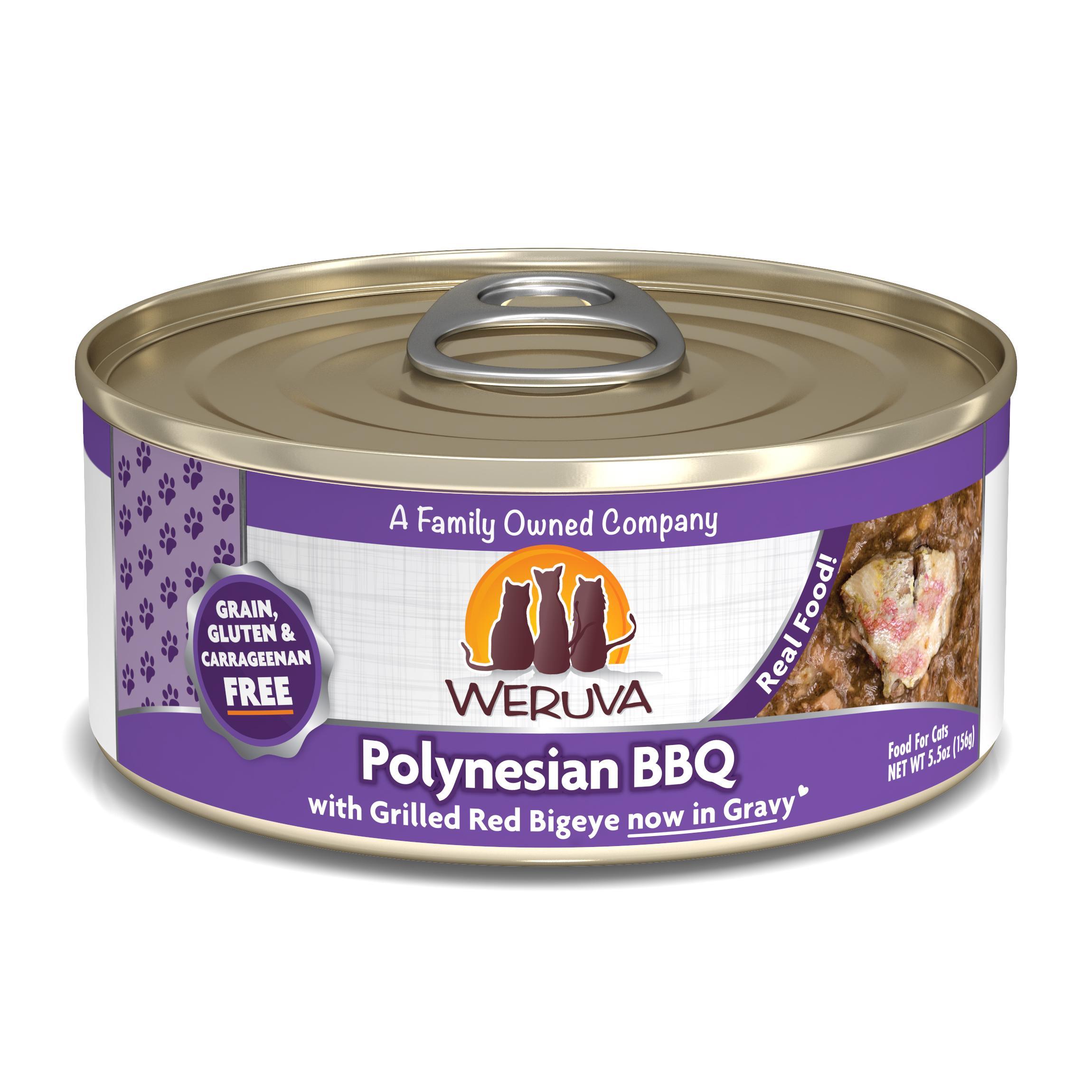 Weruva Cat Classic Polynesian BBQ with Grilled Red Bigeye Grain-Free Wet Cat Food, 5.5-oz