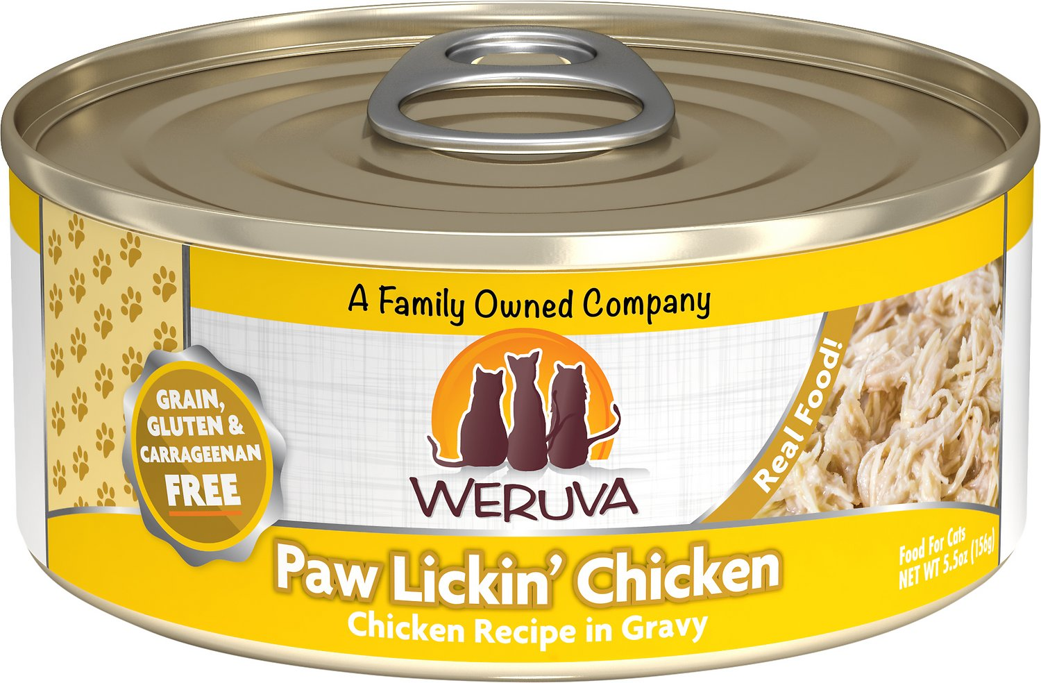 Weruva Cat Classic Paw Lickin' Chicken in Gravy Grain-Free Wet Cat Food, 5.5-oz Size: 5.5-oz