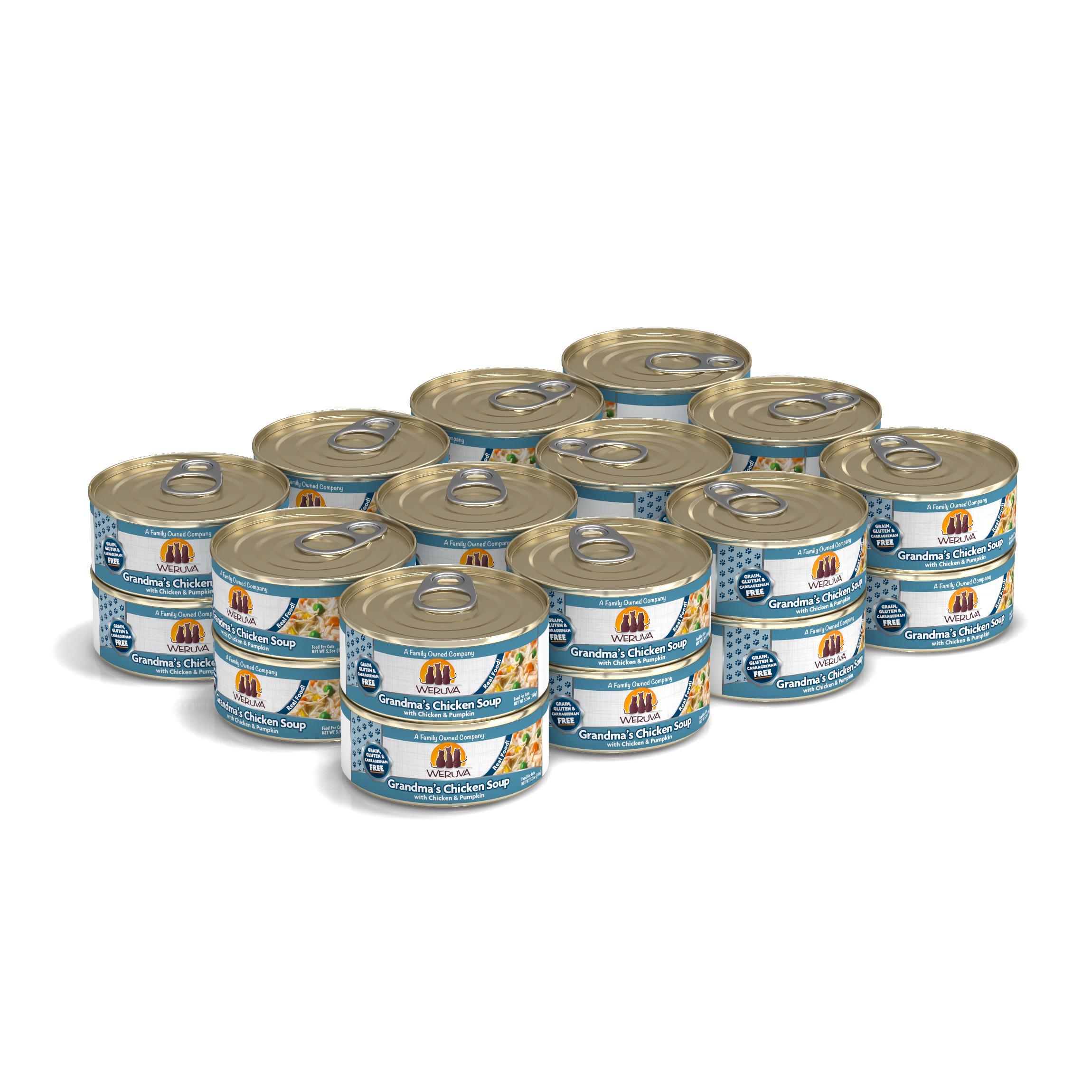 Weruva Cat Classic Grandma's Chicken Soup with Chicken & Pumpkin Grain-Free Wet Cat Food, 5.5-oz, case of 24