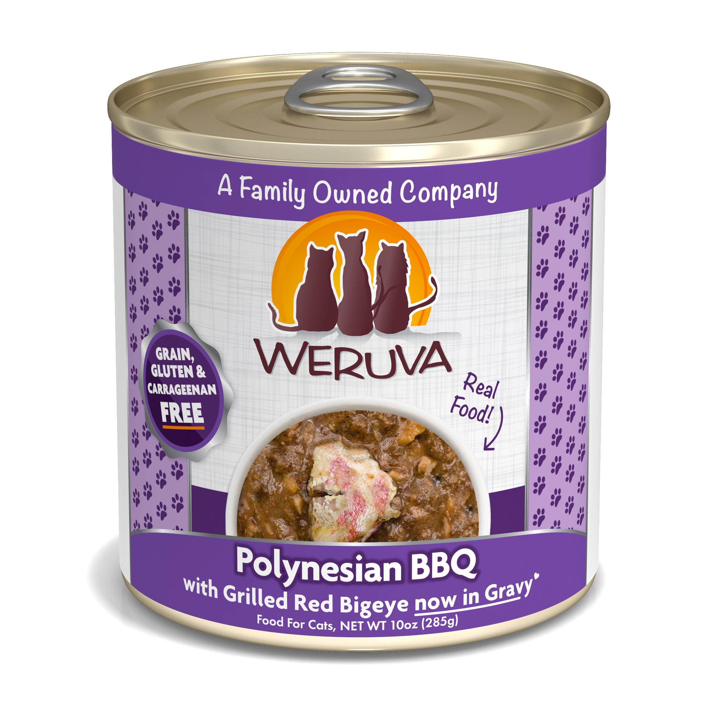 Weruva Cat Classic Polynesian BBQ with Grilled Red Bigeye Grain-Free Wet Cat Food, 10-oz