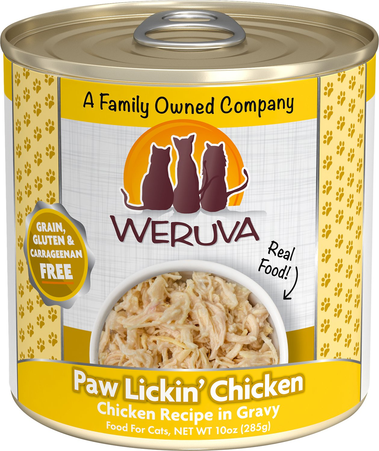 Weruva Cat Classic Paw Lickin' Chicken in Gravy Grain-Free Wet Cat Food, 10-oz