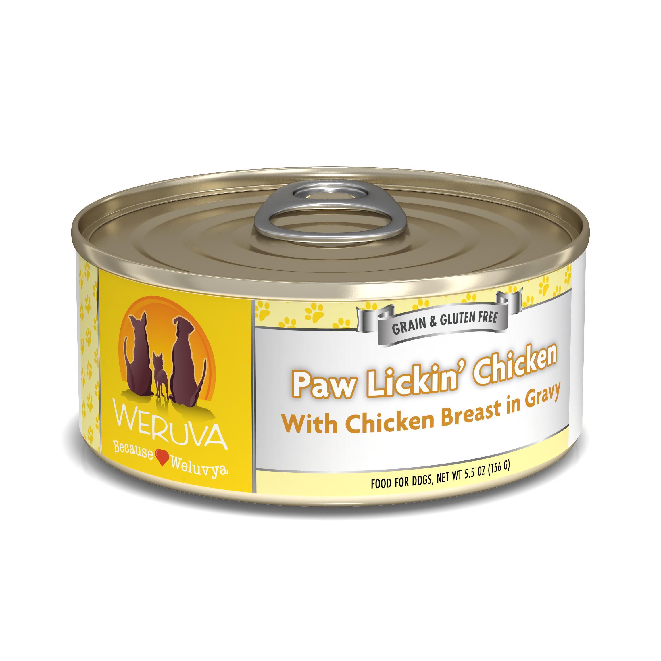 Weruva Dog Classic Paw Lickin' Chicken in Gravy Grain-Free Wet Dog Food Image