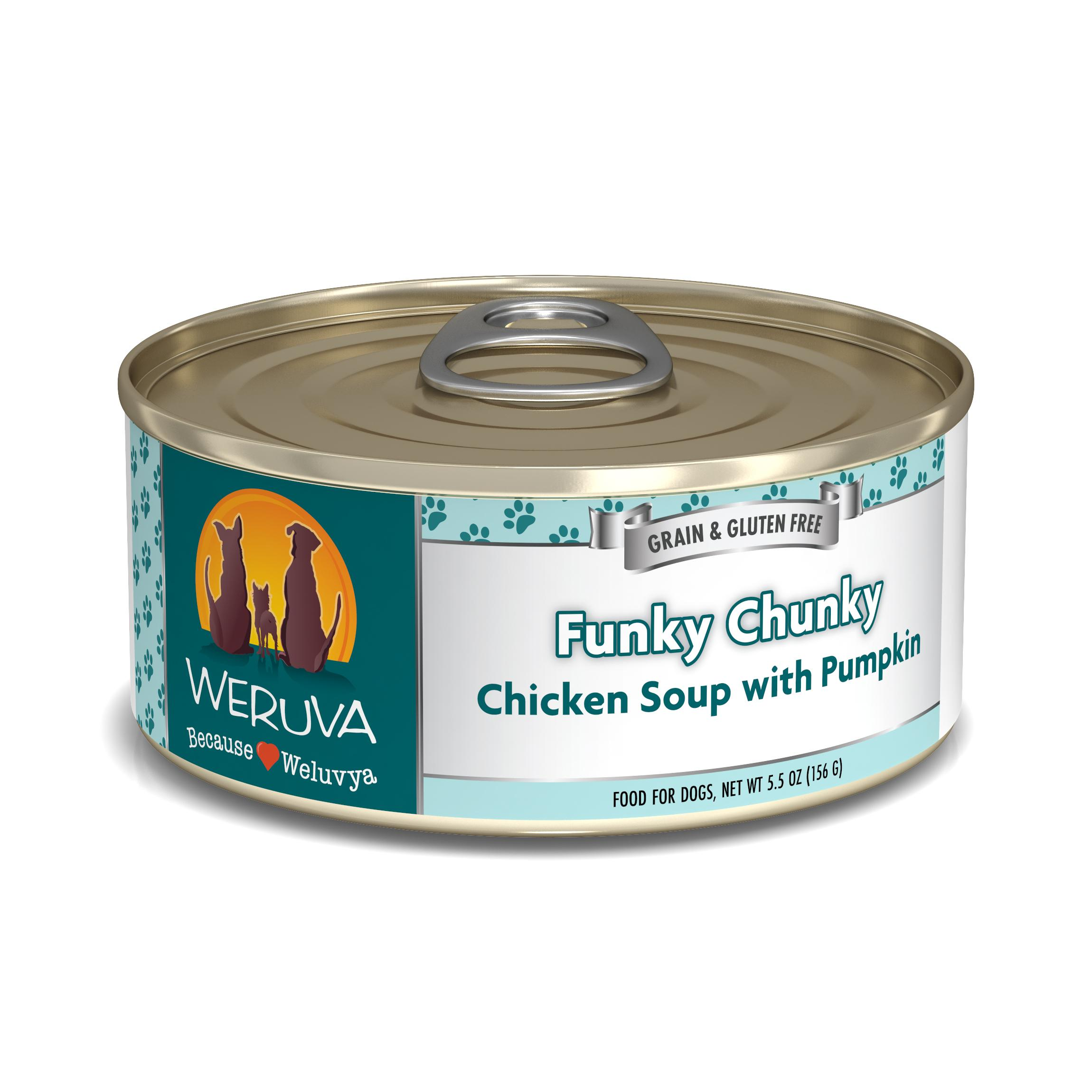 Weruva Dog Classic Funky Chunky Chicken Soup with Pumpkin Grain-Free Wet Dog Food Image