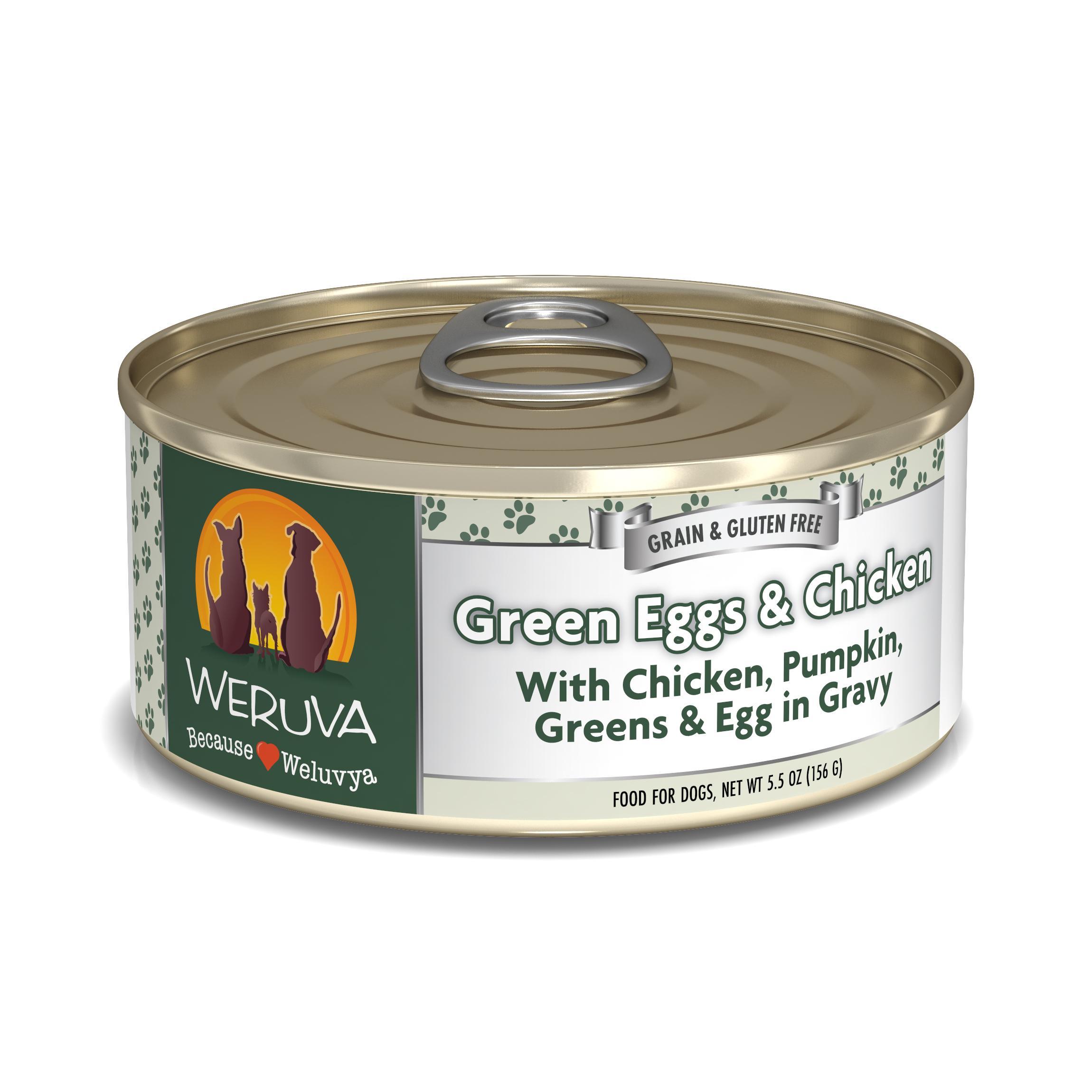 Weruva Dog Classic Green Eggs & Chicken with Chicken, Egg, & Greens in Gravy Grain-Free Wet Dog Food Image