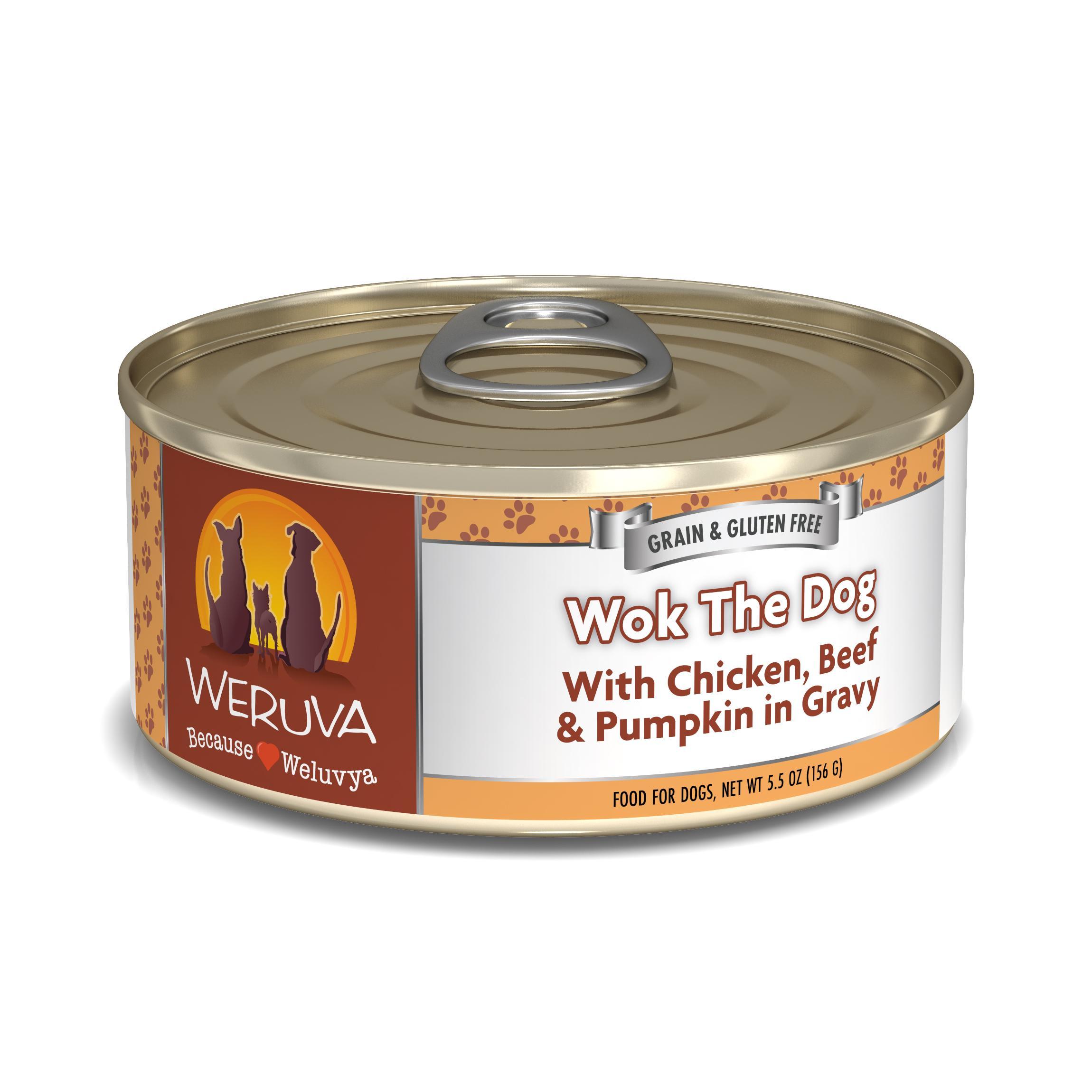 Weruva Dog Classic Wok the Dog with Chicken, Beef & Pumpkin in Gravy Grain-Free Wet Dog Food Image