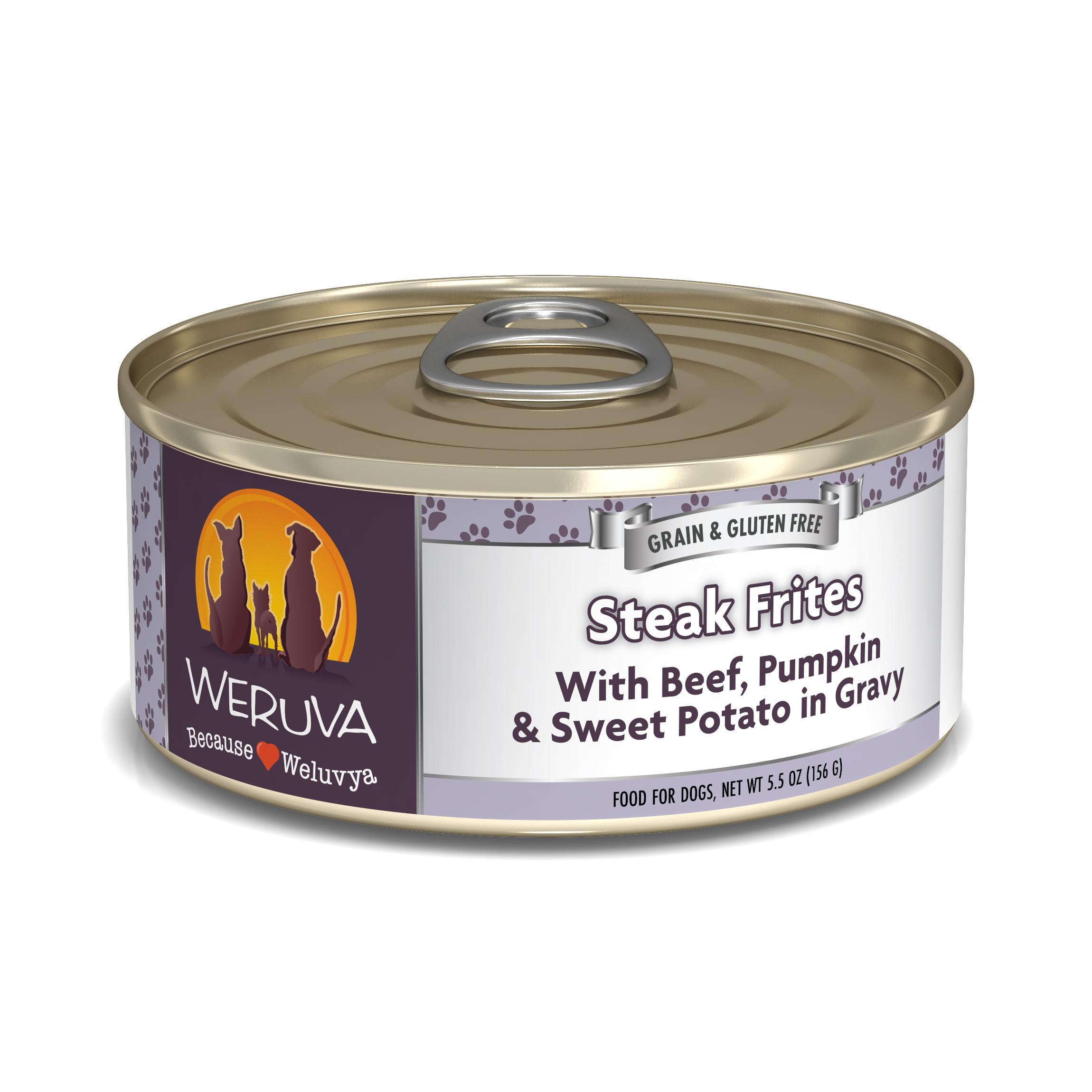 Weruva Dog Classic Steak Frites with Beef, Pumpkin & Sweet Potatoes in Gravy Grain-Free Wet Dog Food Image