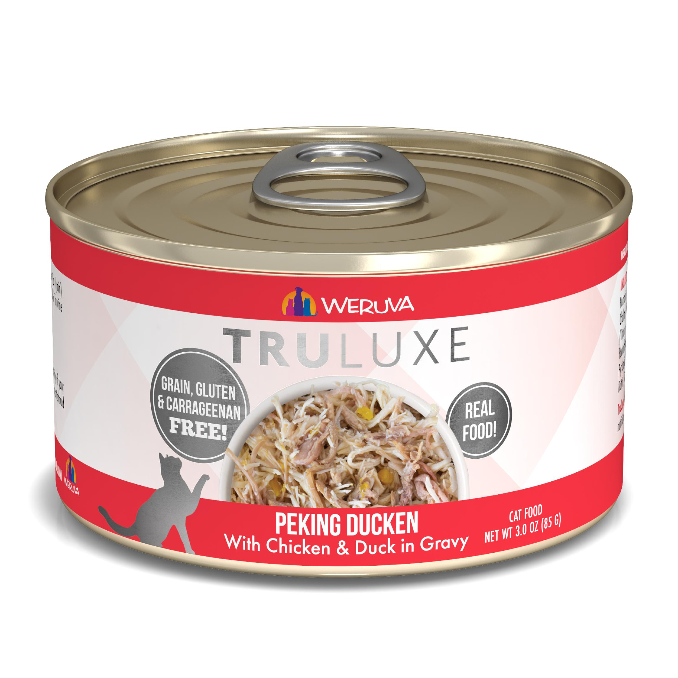 Weruva Cat Truluxe Peking Ducken with Chicken & Duck in Gravy Grain-Free Wet Cat Food, 3-oz