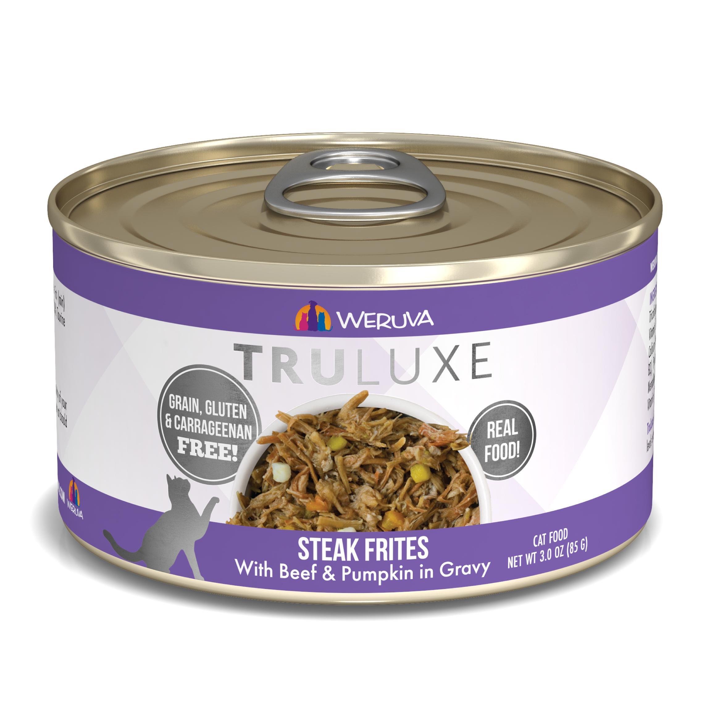 Weruva Cat Truluxe Steak Frites with Beef & Pumpkin in Gravy Grain-Free Wet Cat Food Image
