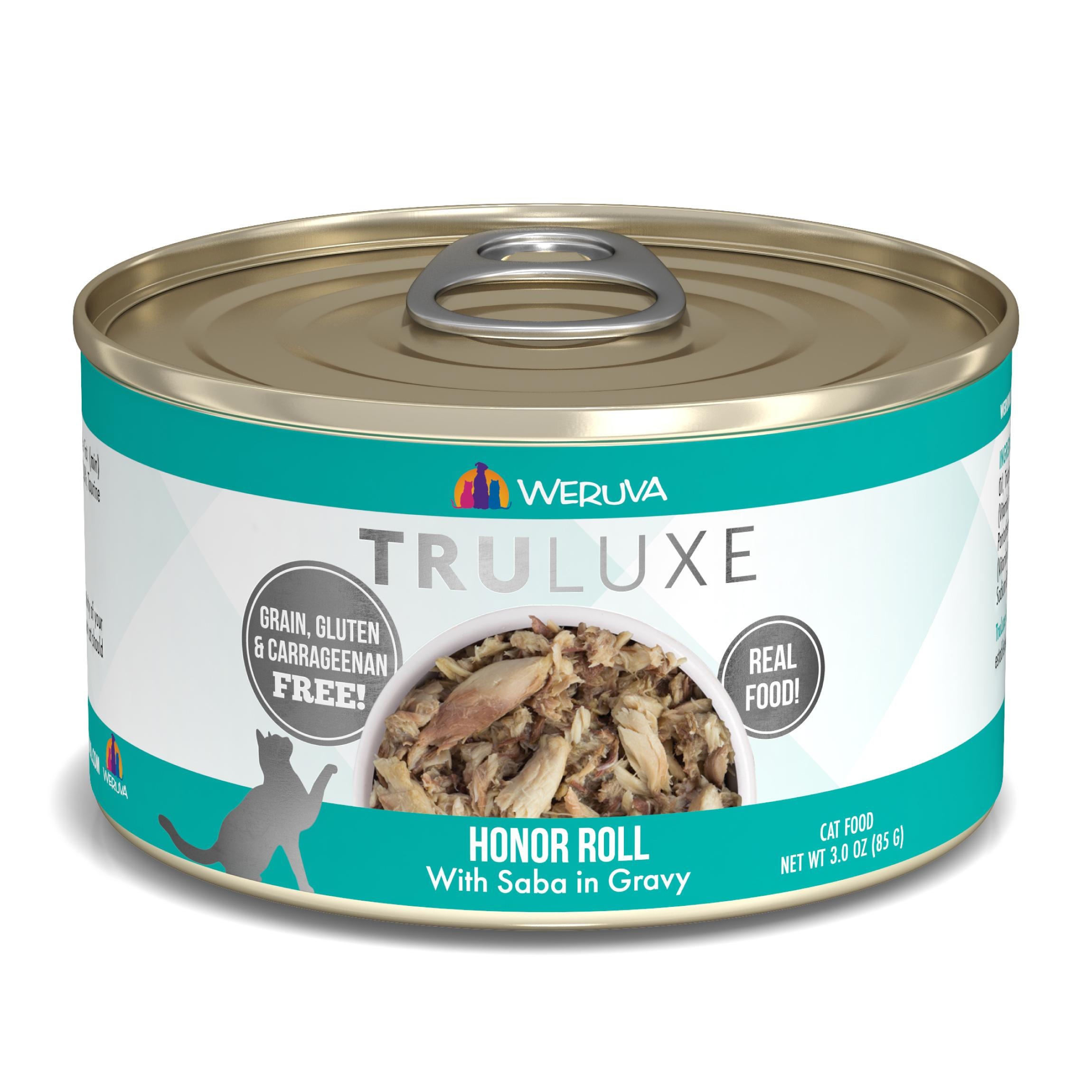 Weruva Cat Truluxe Honor Roll with Saba in Gravy Grain-Free Wet Cat Food Image