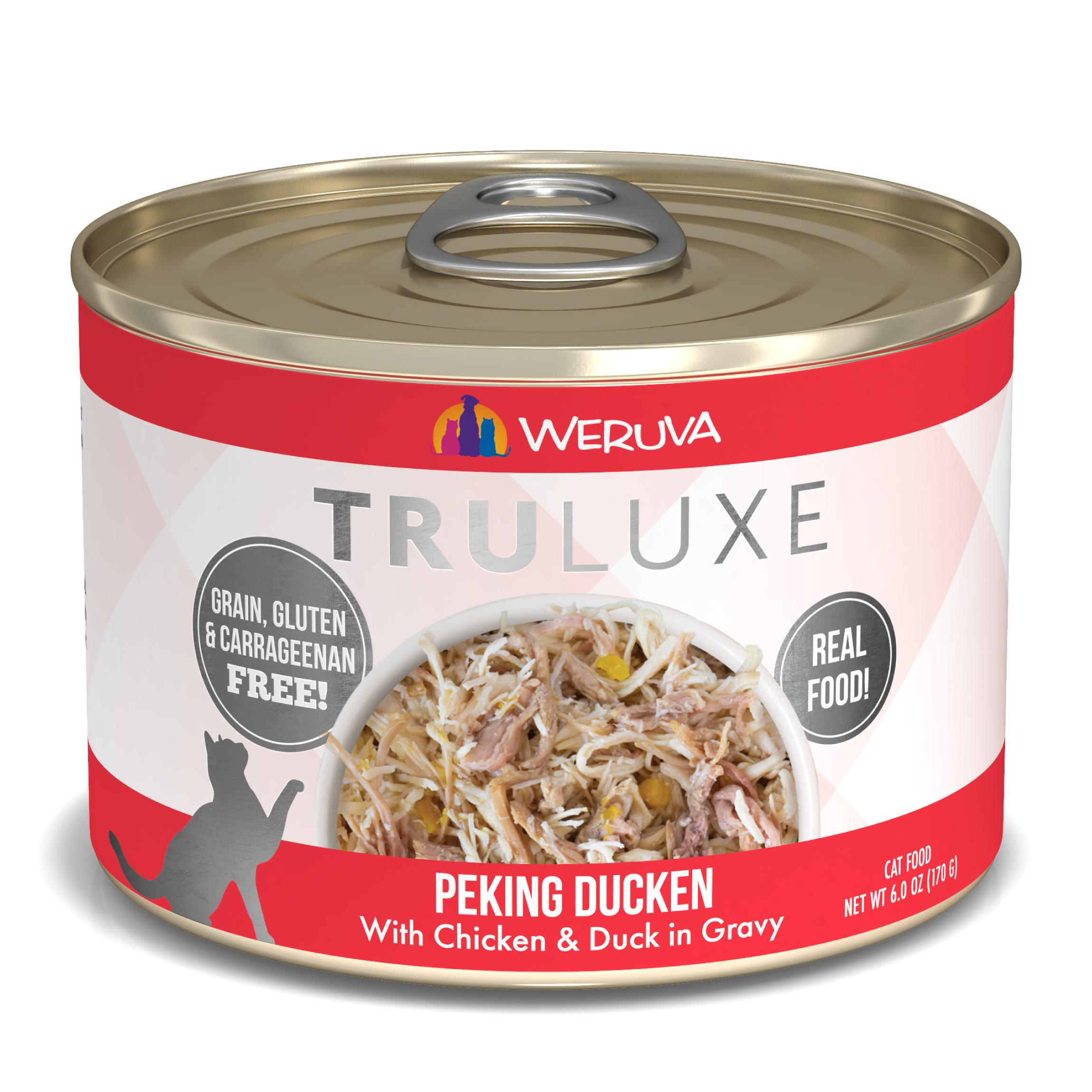Weruva Cat Truluxe Peking Ducken with Chicken & Duck in Gravy Grain-Free Wet Cat Food, 6-oz