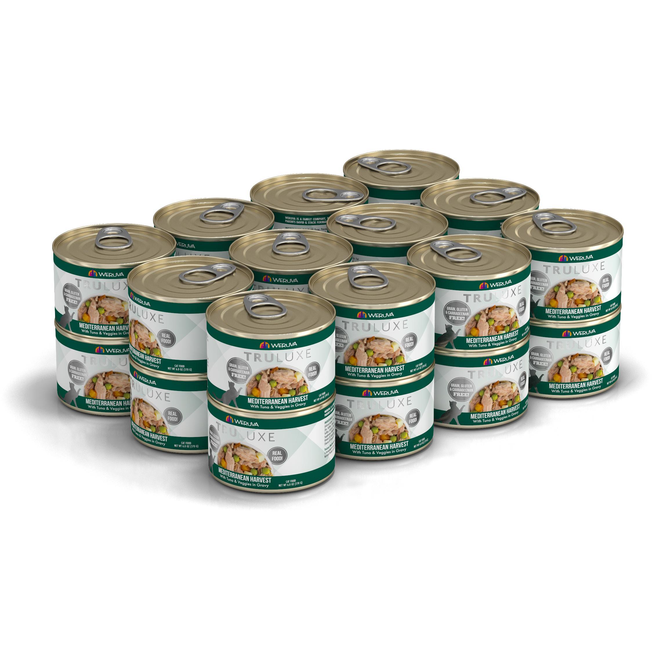 Weruva Cat Truluxe Mediterranean Harvest with Tuna & Veggies in Gravy Grain-Free Wet Cat Food, 6-oz, case of 24